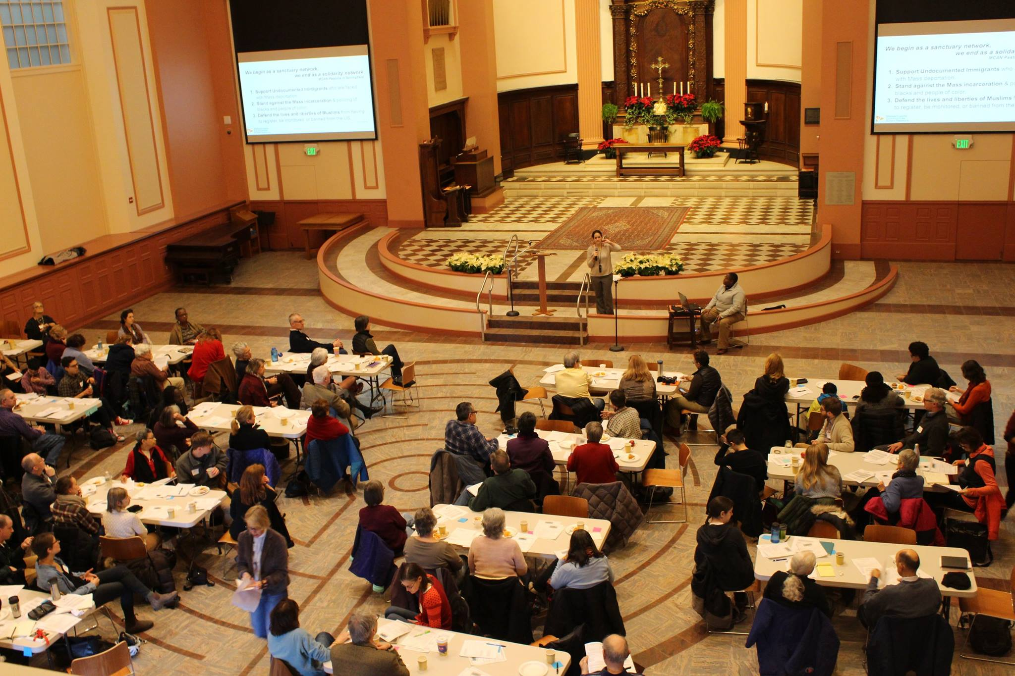 Over 100 people gather to build a loving and powerful Sanctuary movement