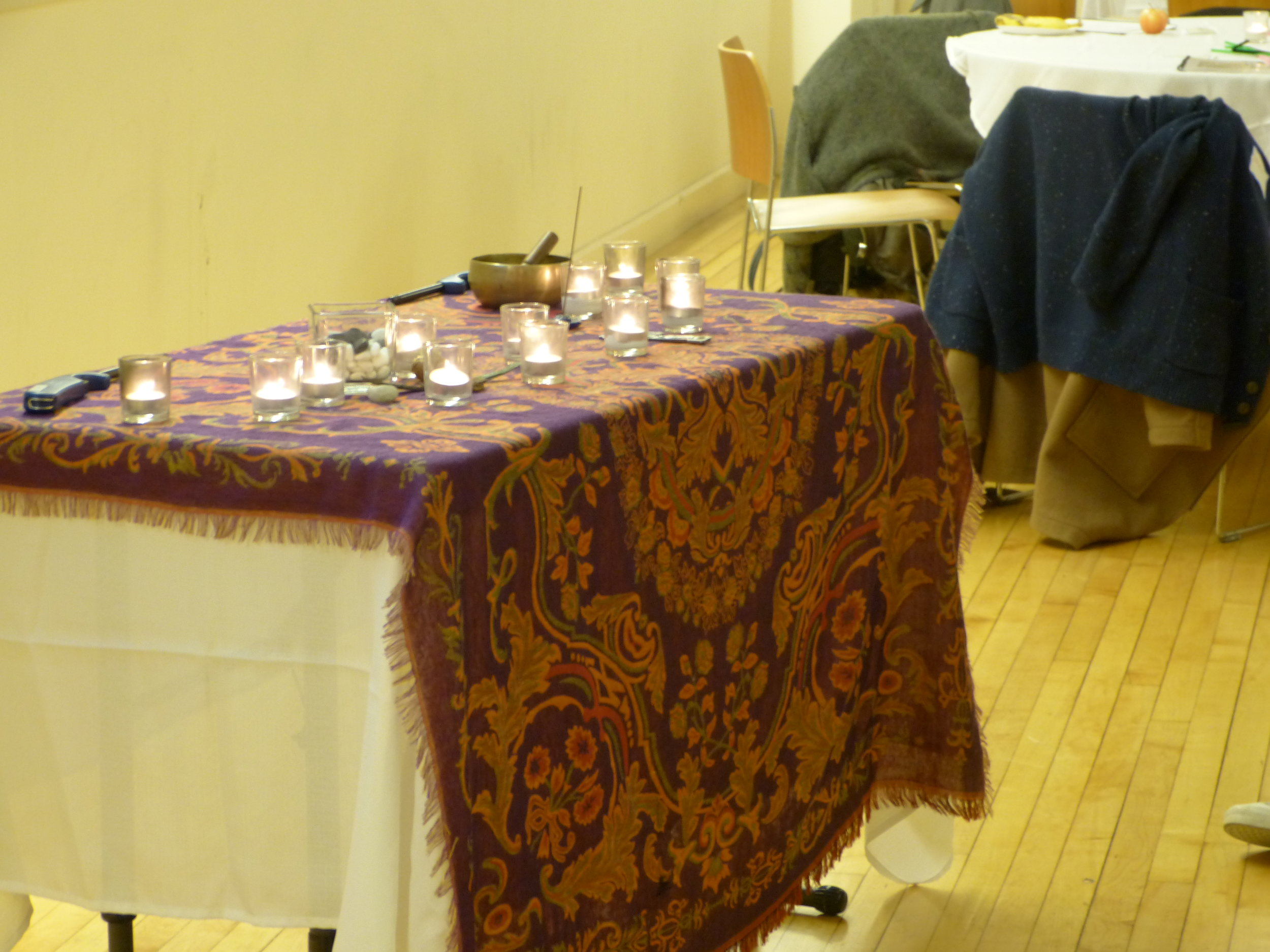 The alter at our November 12th training