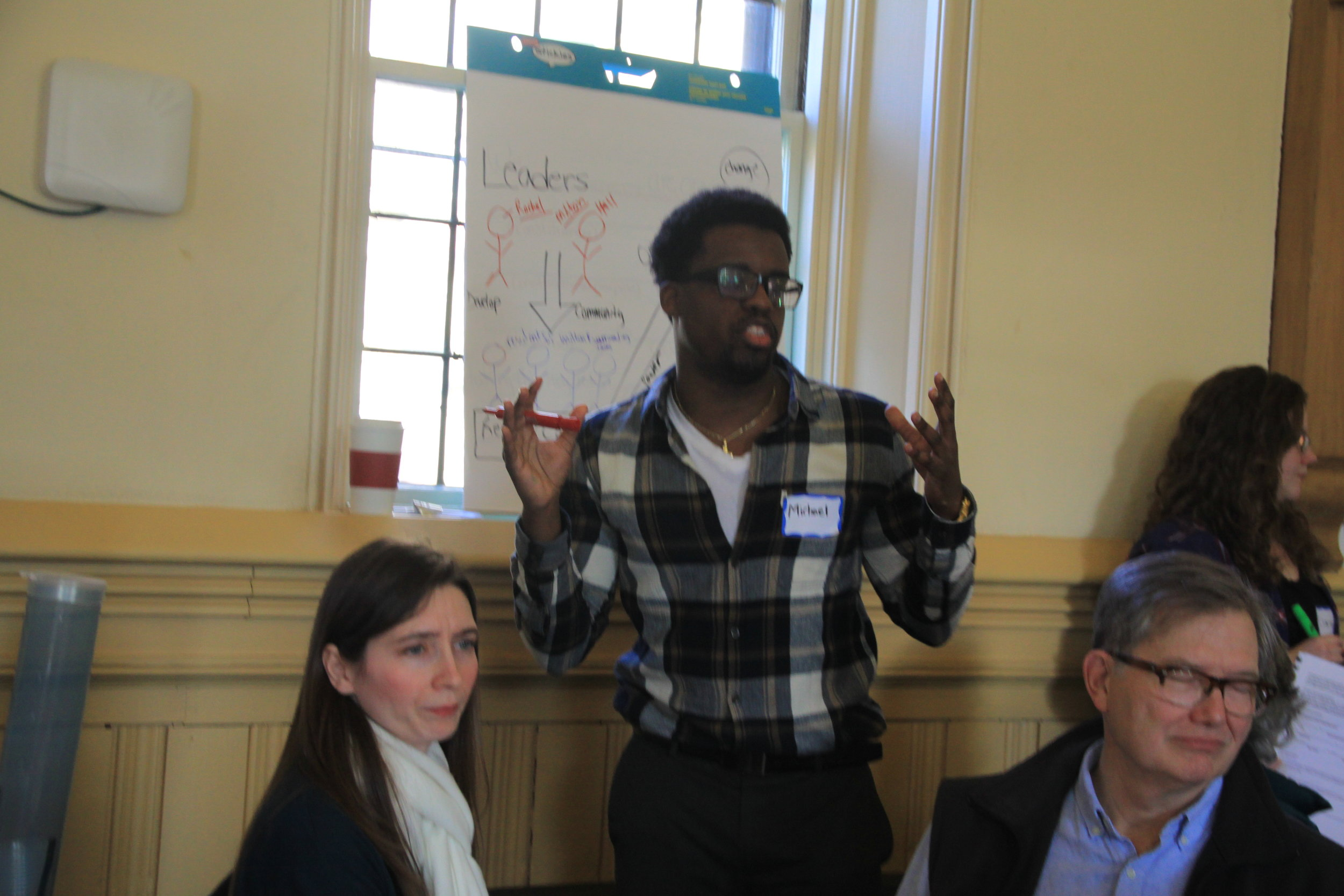 Michael facilitates a group at our January training