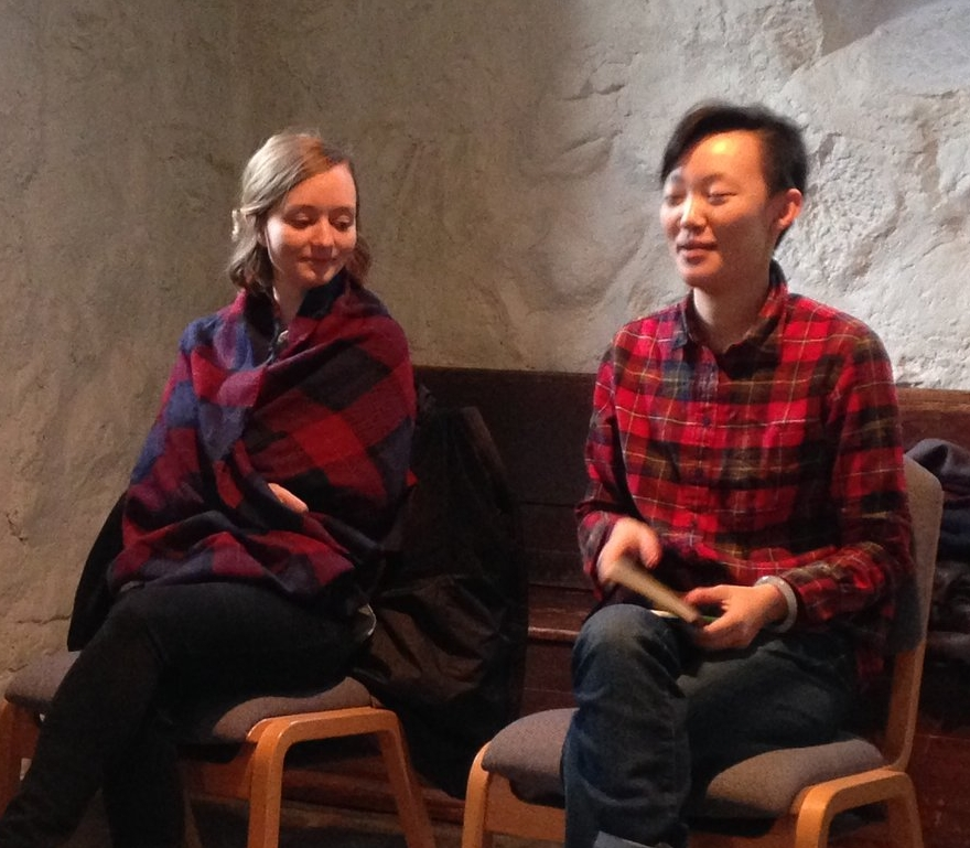 Worship team members engage in prayerful and prophetic conversation