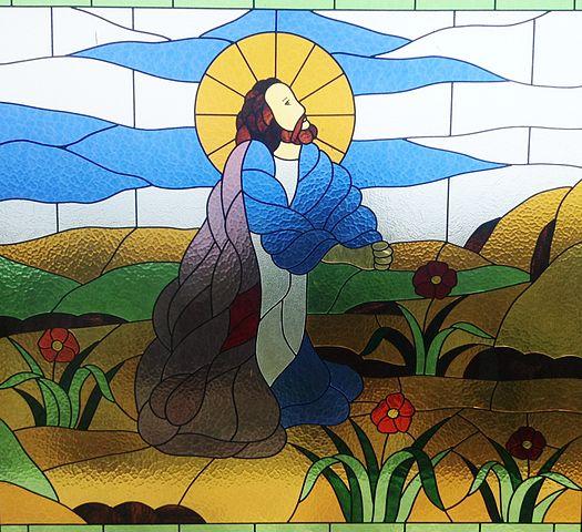 Jesus prays in Gethsemene