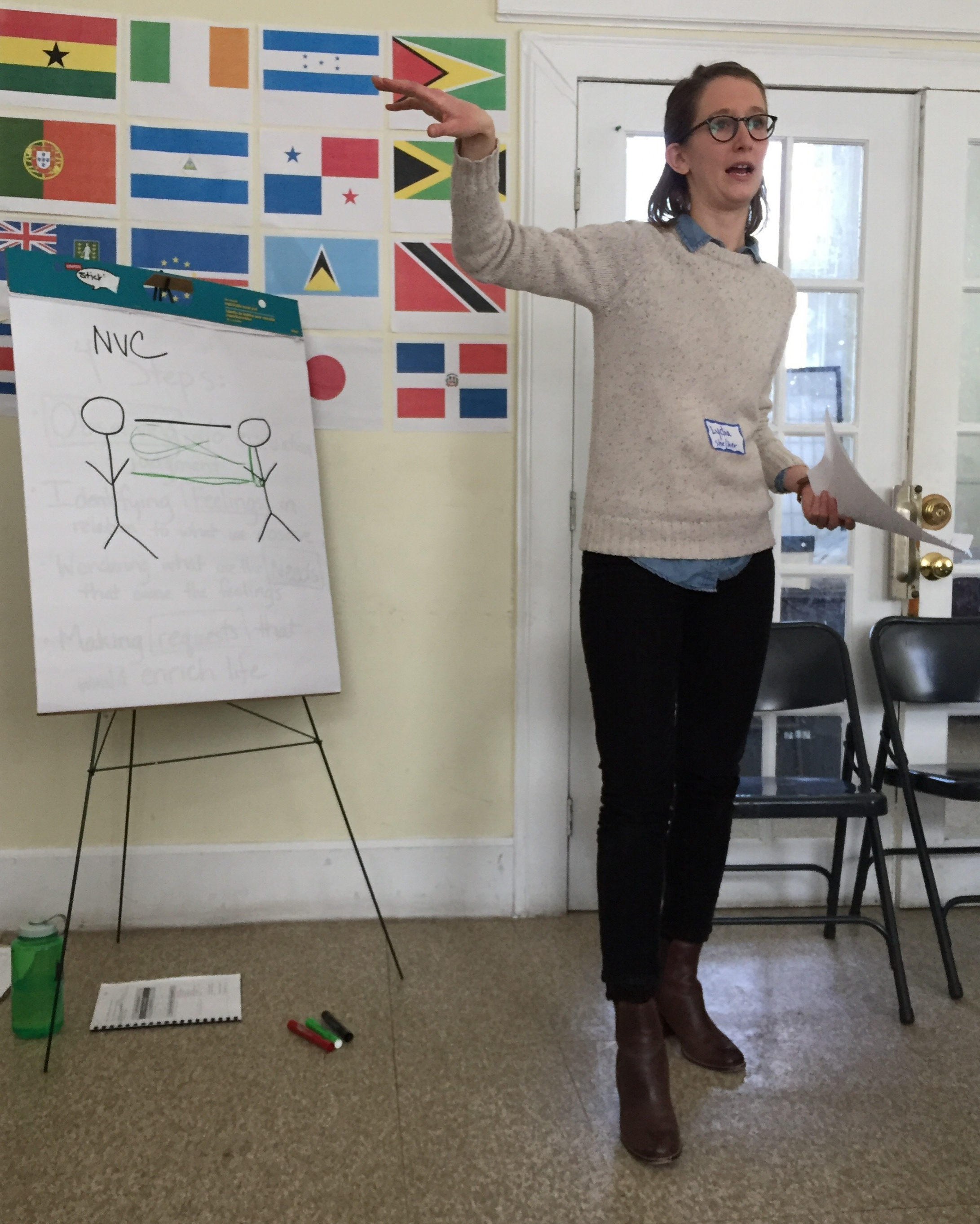 Lydia teaching Nonviolent Communication at LDI's March 11 training