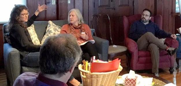 Natalie Finstad facilitates a vestry retreat with Emmanuel Church