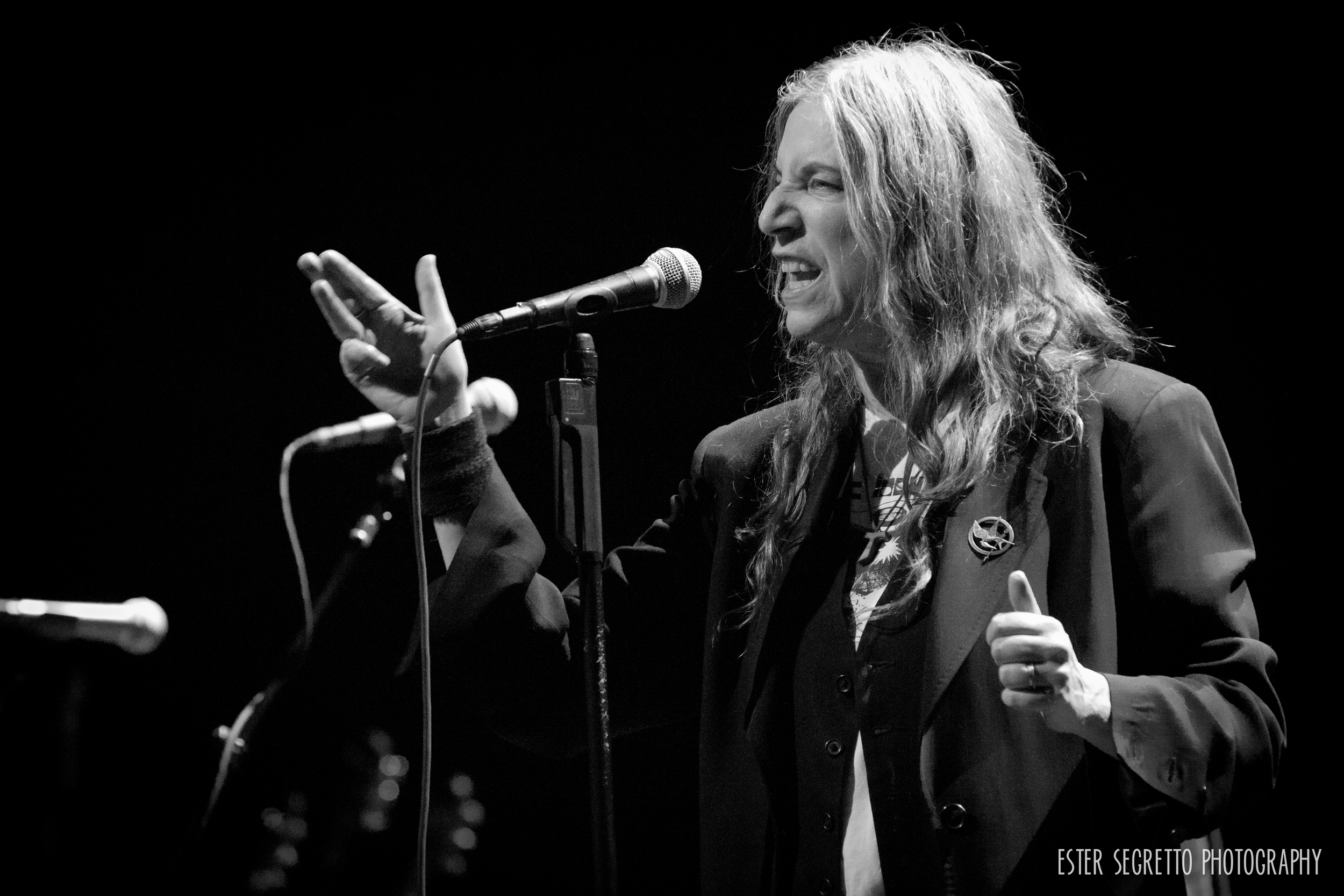 This shot is lucky for many reasons. The obvious one being, this is Patti Smith! She's one of the most respected artists of our time. She helped shape an era that is wildly influential to most artists performing today. The second reason is, I realized that I was only one of two photographers approved to shoot this show and that there were no photographers approved for her next two Webster Hall NYC shows this week. What a great way to close out another great year of shooting concerts, I feel very lucky indeed.