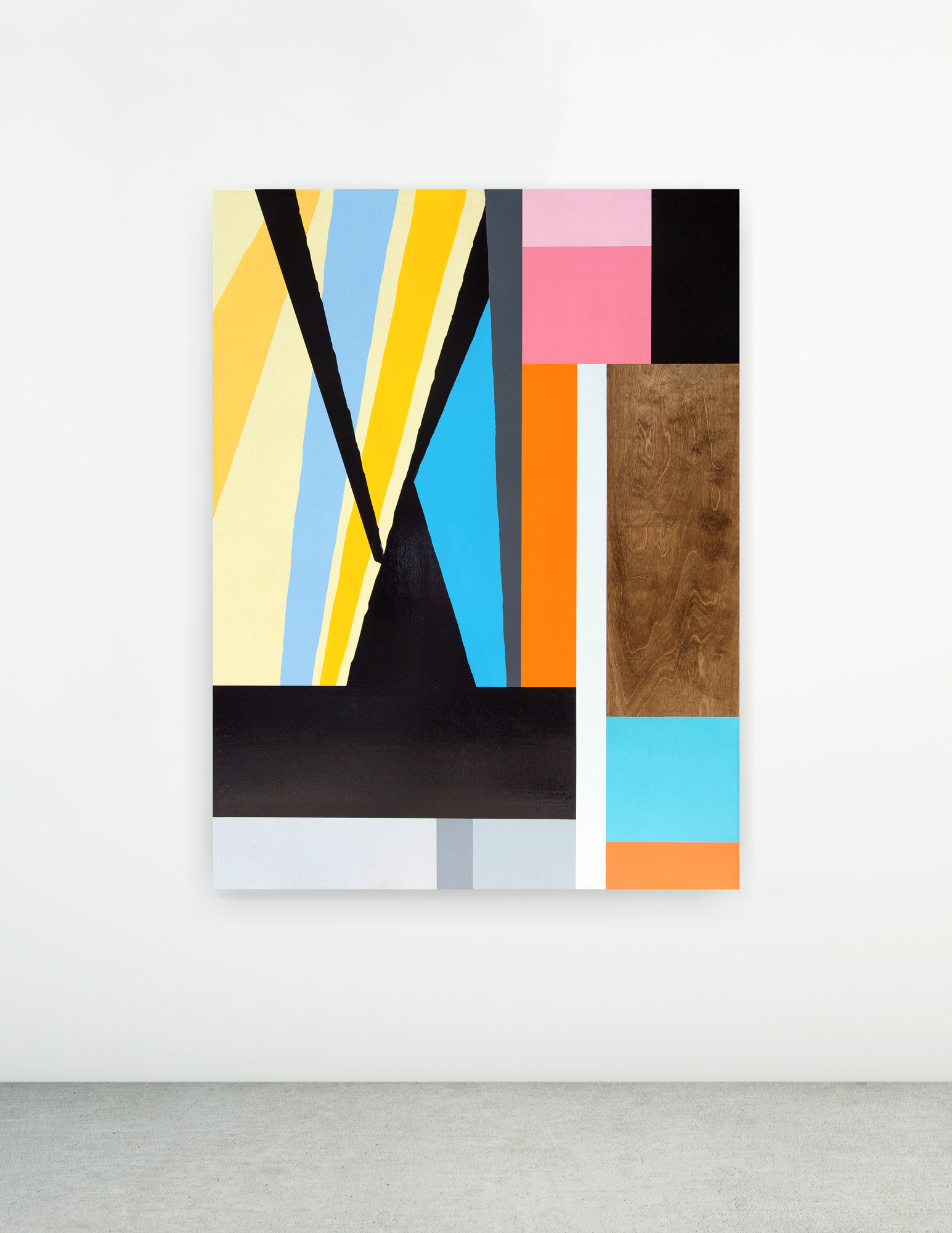 Untitled, 2015 Spray paint and polyurethane on wood 36 x 48 x 3 inches