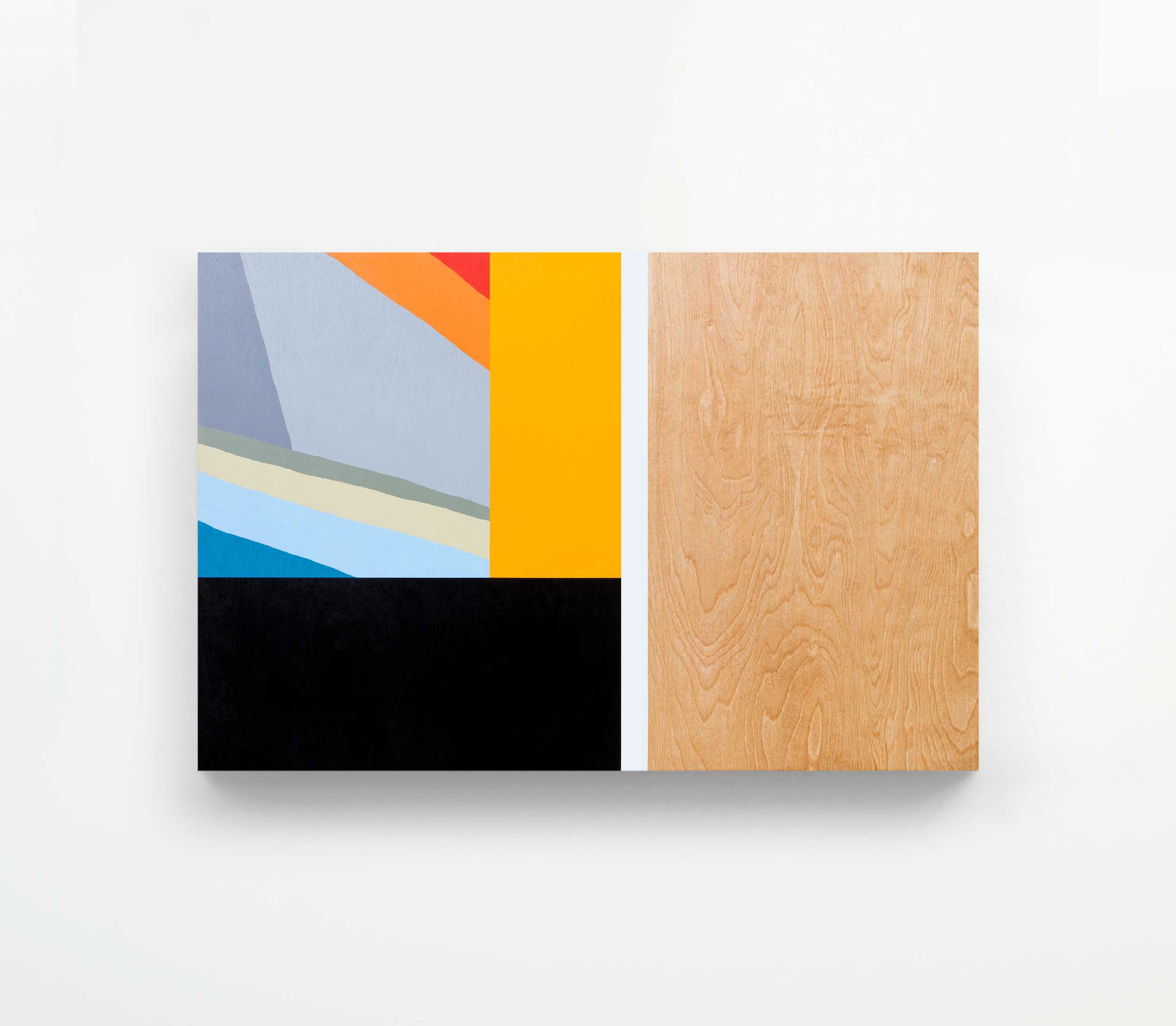 Untitled, 2015 Spray paint on wood 36 x 24 inches