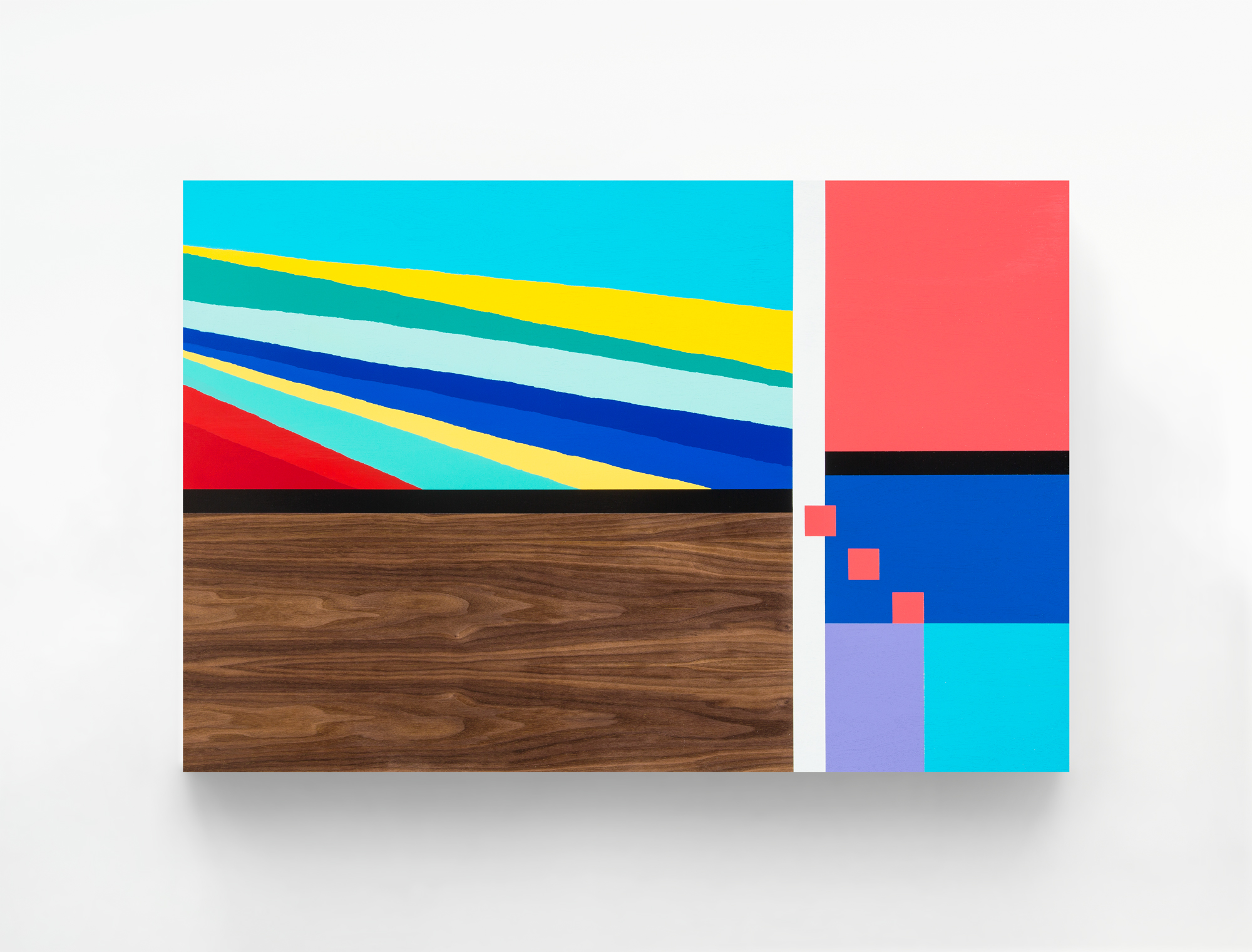 Concourse C, 2015 Spray paint and polyurethane on walnut 40 x 30 x 2.5 inches