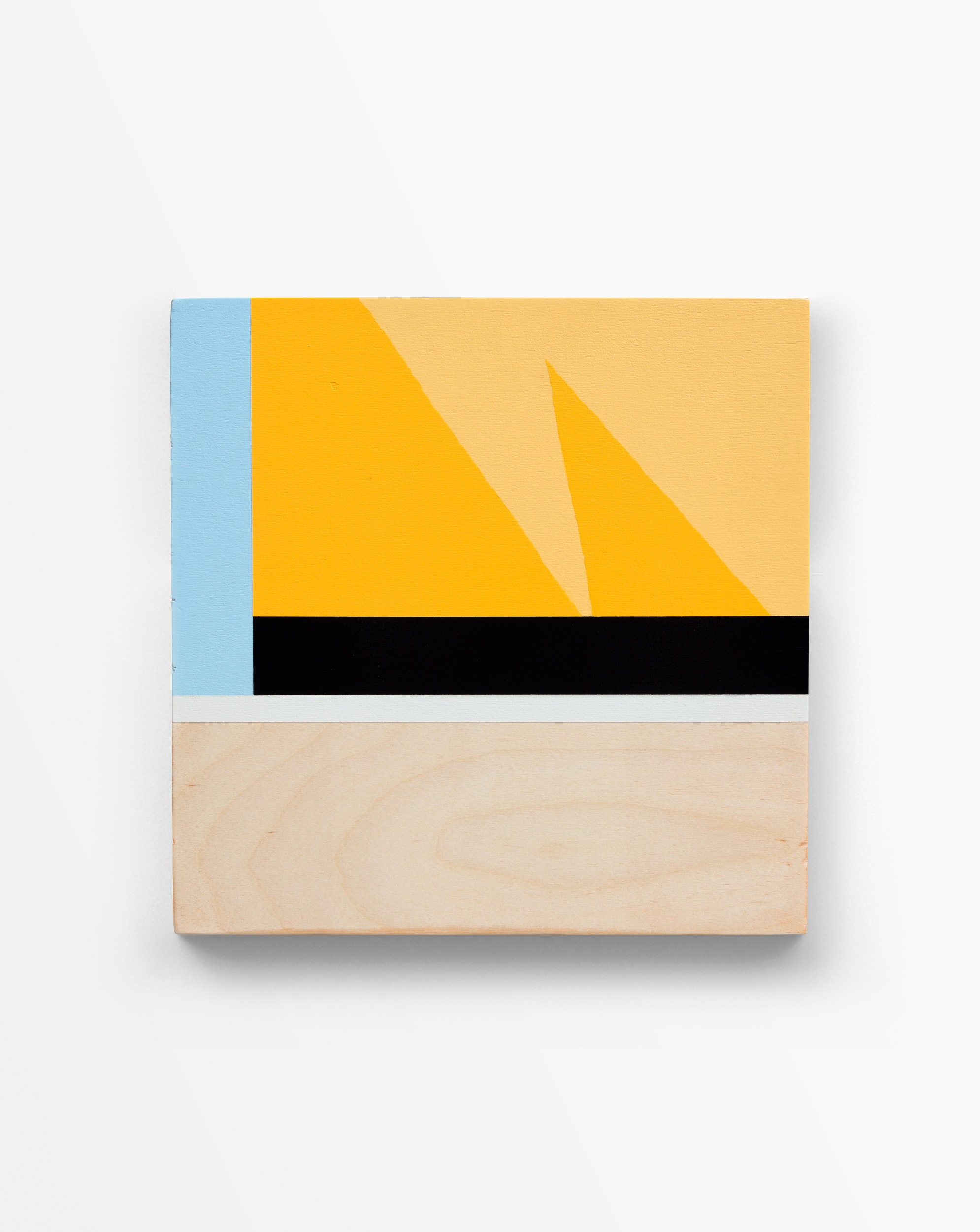 Untitled, 2016   Spray paint and polyurethane on birch panel   12 x 12 x 2.5 inches