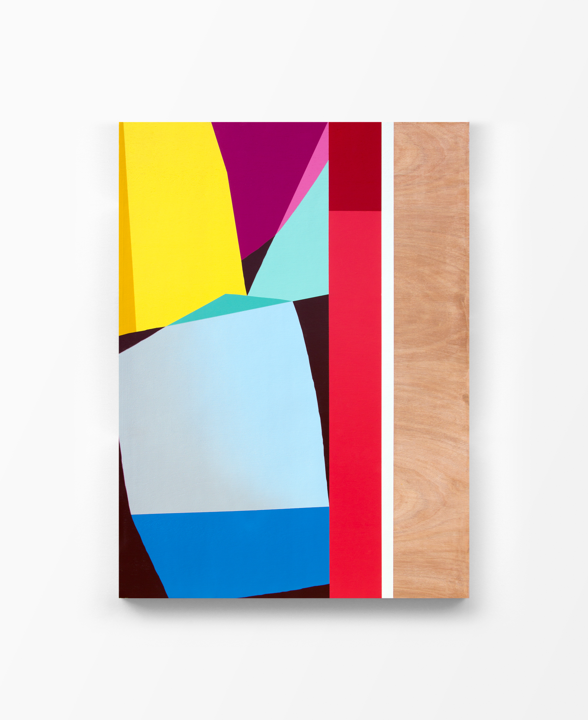 Untitled, 2017 Spray paint and polyurethane on birch panel 30 x 40 x 1.5 inches