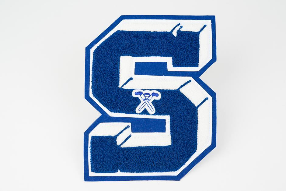 3D letter with emblem