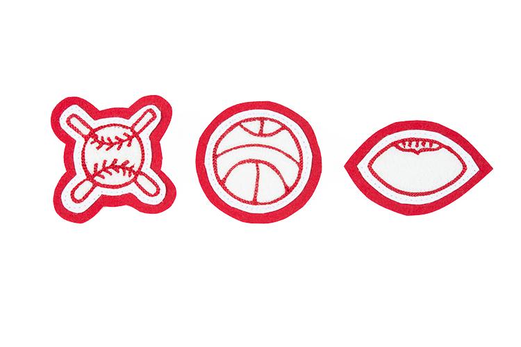 Stock sports emblems