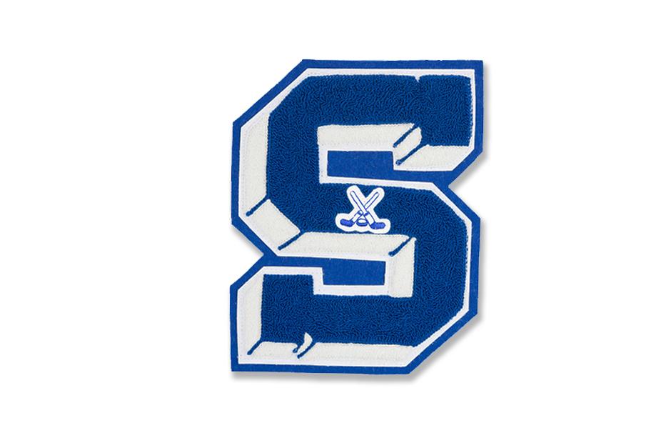 3D letter (style C-13) with emblem