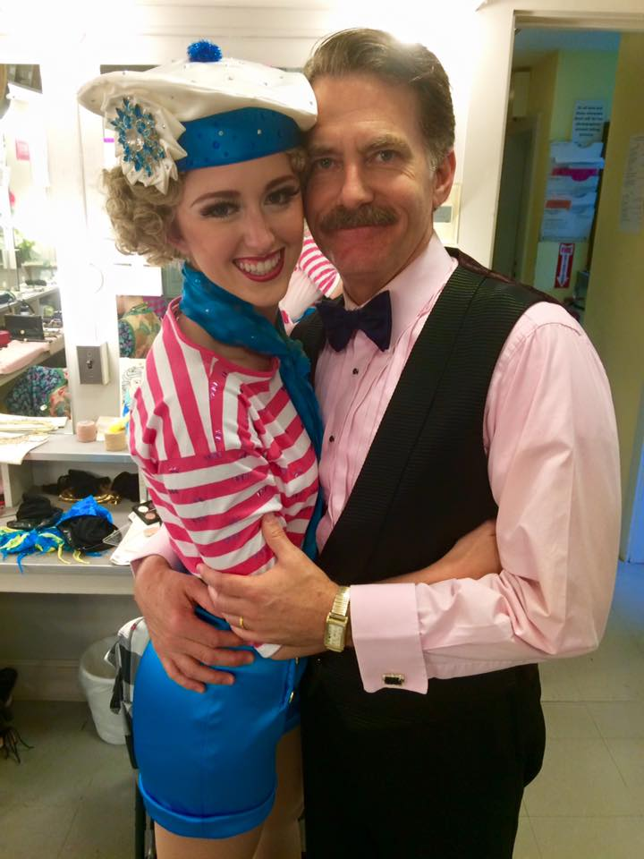 emily and james lloyd reynolds(george) before swing in on aug.14