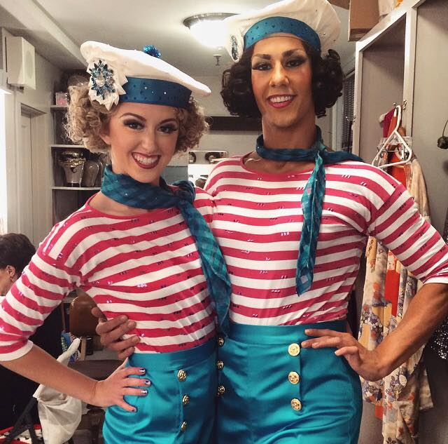 emily and fellow bloc client alex cruz before swing in aug. 14