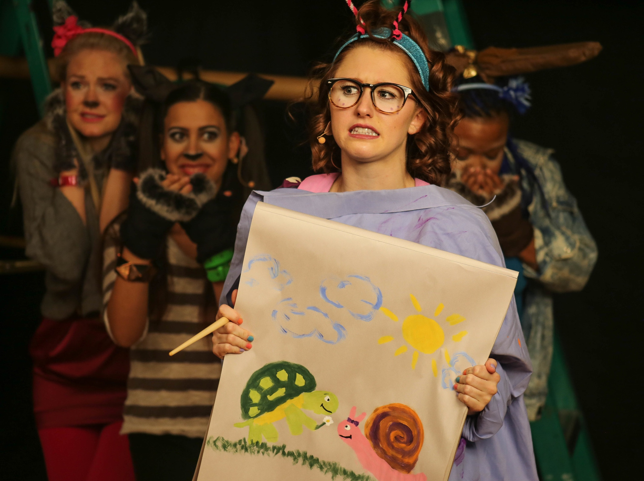 Tortoise and Hare - Emily is teaming up with NCTC bringing theater to young audiences. Click below to see B-Roll of her portrayal as Cindy the Snail.