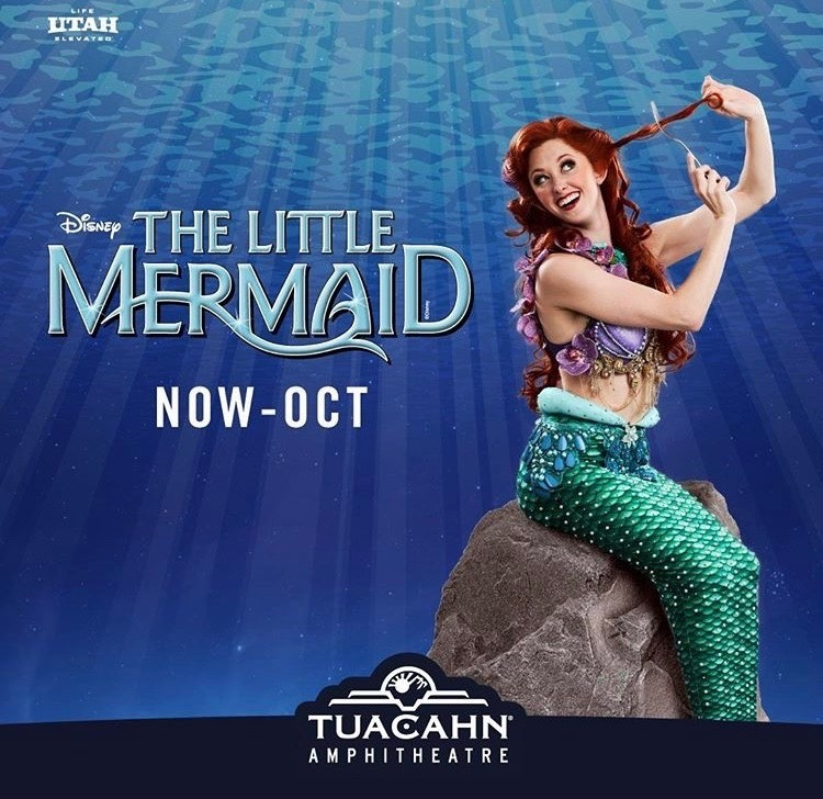 """ARIEL in """"The Little Mermaid"""" - Emily is joining Tuacahn Ampitheater's Broadway in the Canyon"""" summer season as Ariel in the Little Mermaid. Directed and Choreographed by Jani Walsh-Weber. Click below for tickets and more information"""