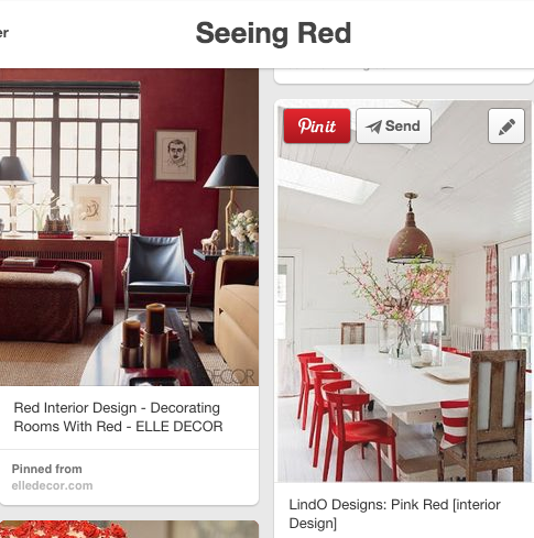 Check out some of my other favorite red rooms on my  Seeing Red  Pinterest board!