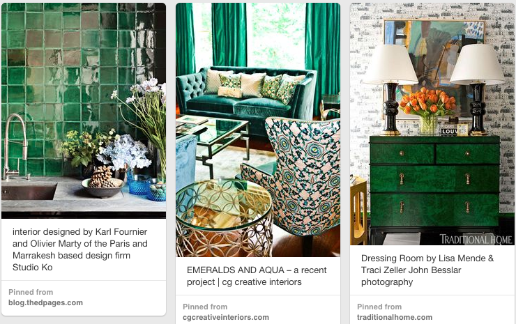 Gorgeous greens from my  Emerald City  pinboard.