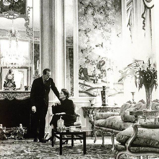 Edward and Mona Bismarck in what is now the Mona Bismarck American Center in Paris.