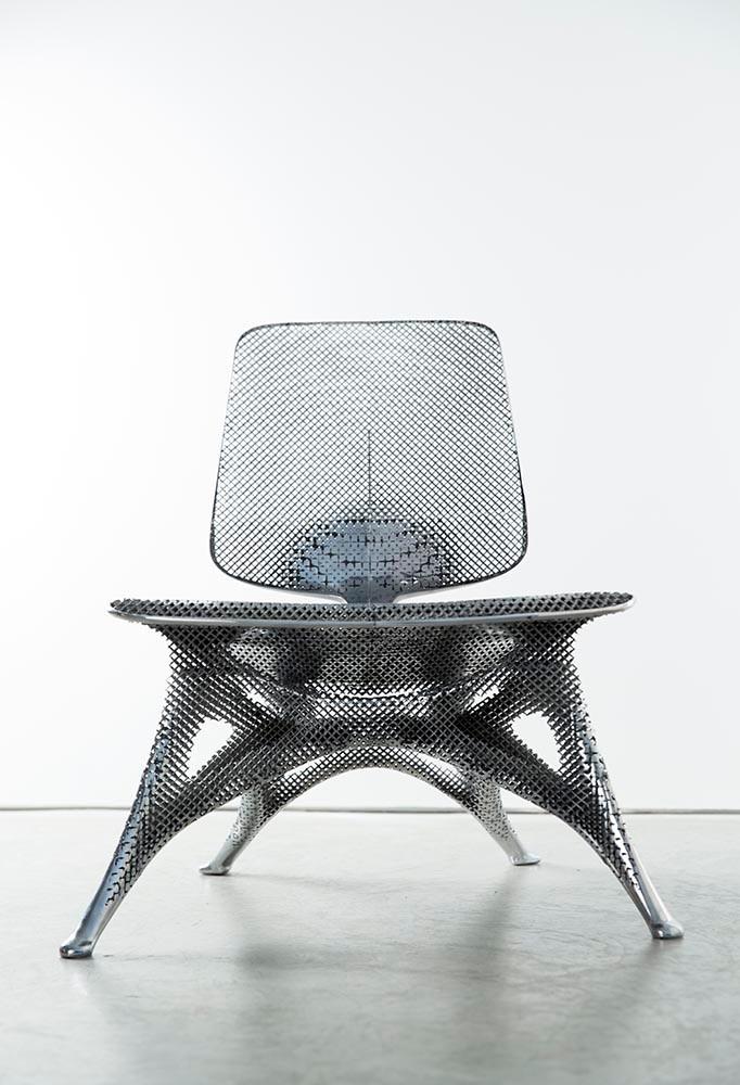 Aluminum Gradient Chair ,  Joris Laarman, laser-sintered aluminum