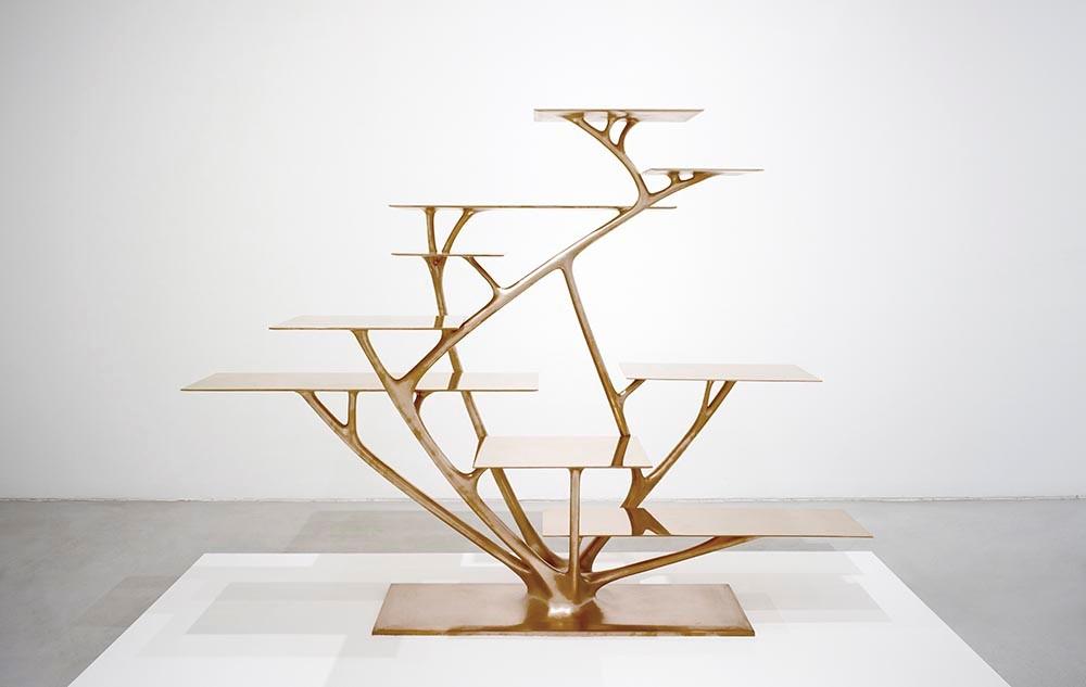 Branch Bookshelf,  Joris Laarman, in bronze