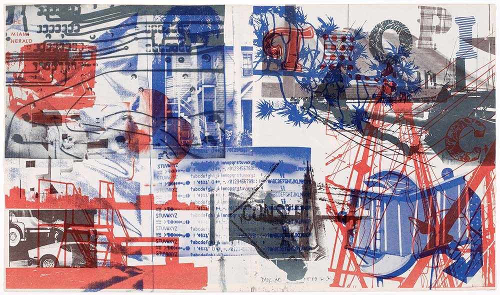 Robert Rauschenberg,  Untitled,  1979, offset lithograph in colors, the Museum of Fine Arts, Houston