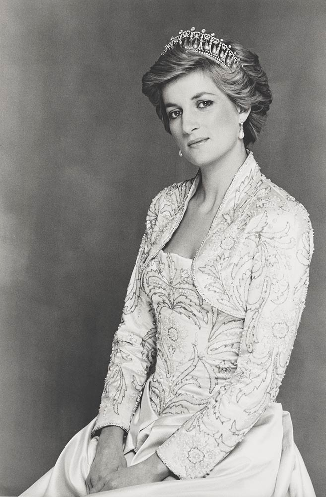 Terence Donovan,  Diana, Princess of Wales , 1990, bromide print, National Portrait Gallery, London, given by the photographer's widow, Diana Donovan. © Terence Donovan Archive