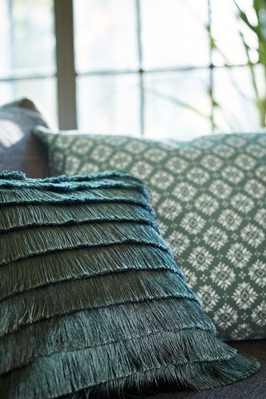 Fringe pillow, H+M Home