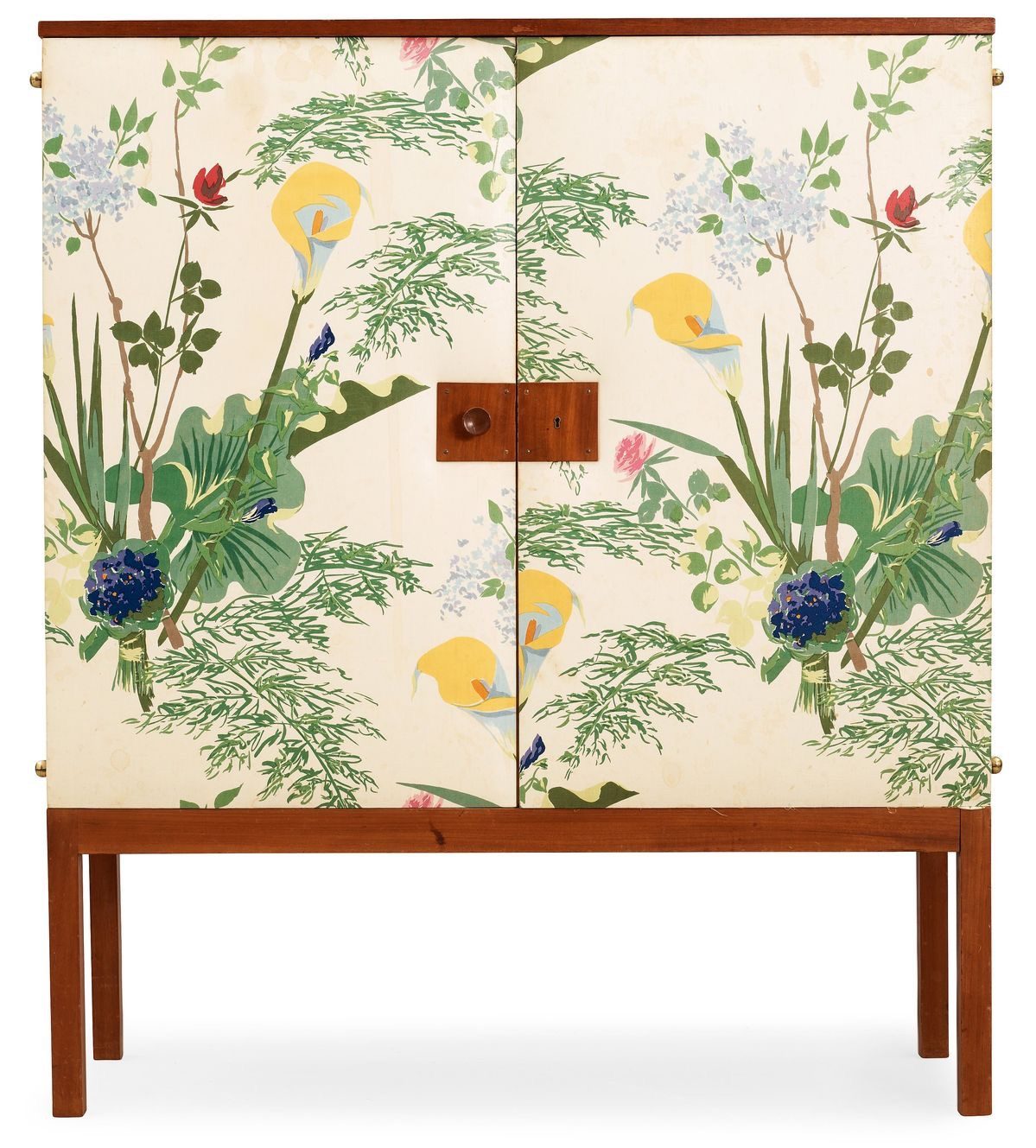 Josef Frank Chintz Wrapped Cabinet, 1940s