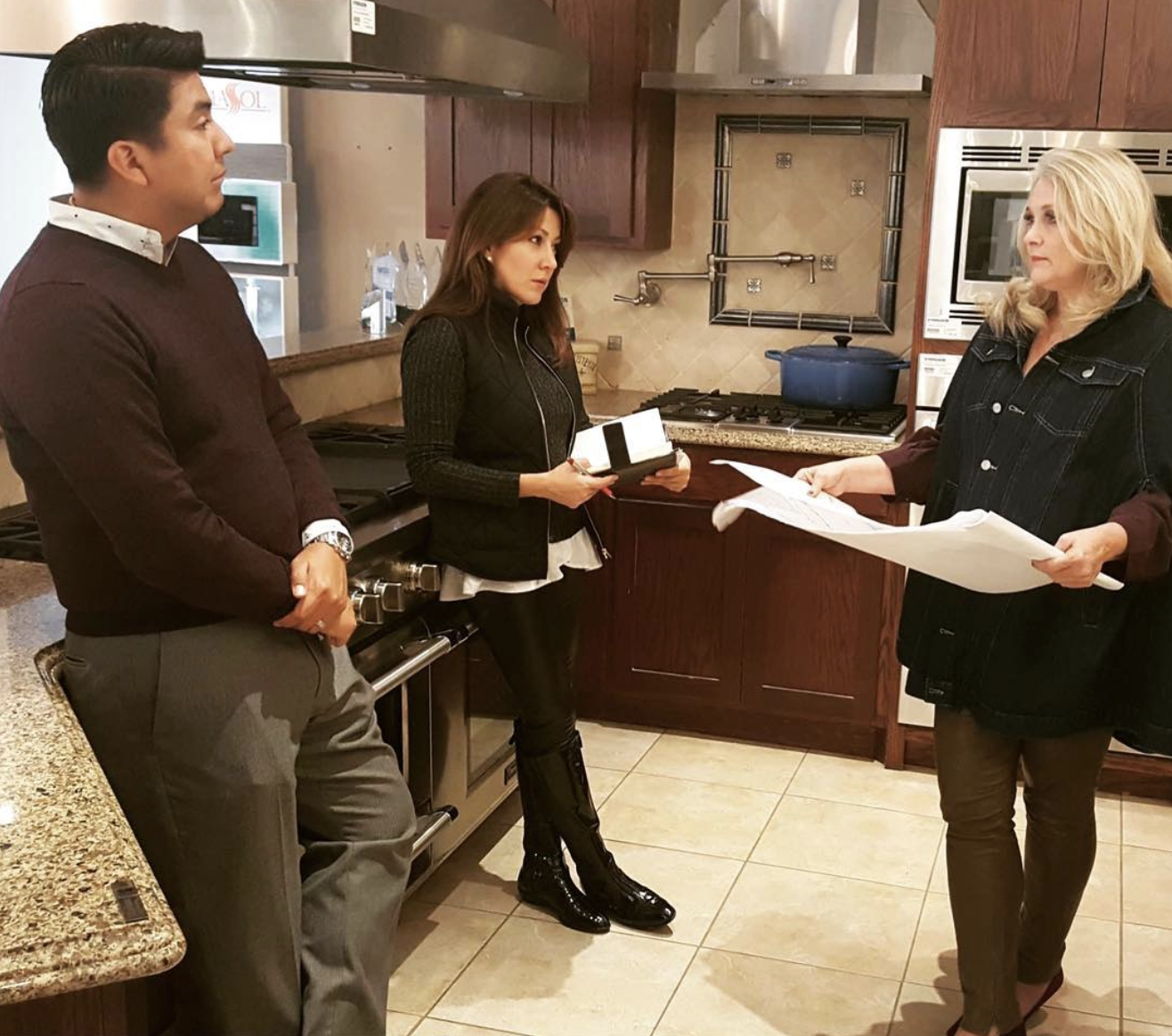 Working with Joe Gonzales and Suly Weisman of BSHG Corporation on my appliance selections