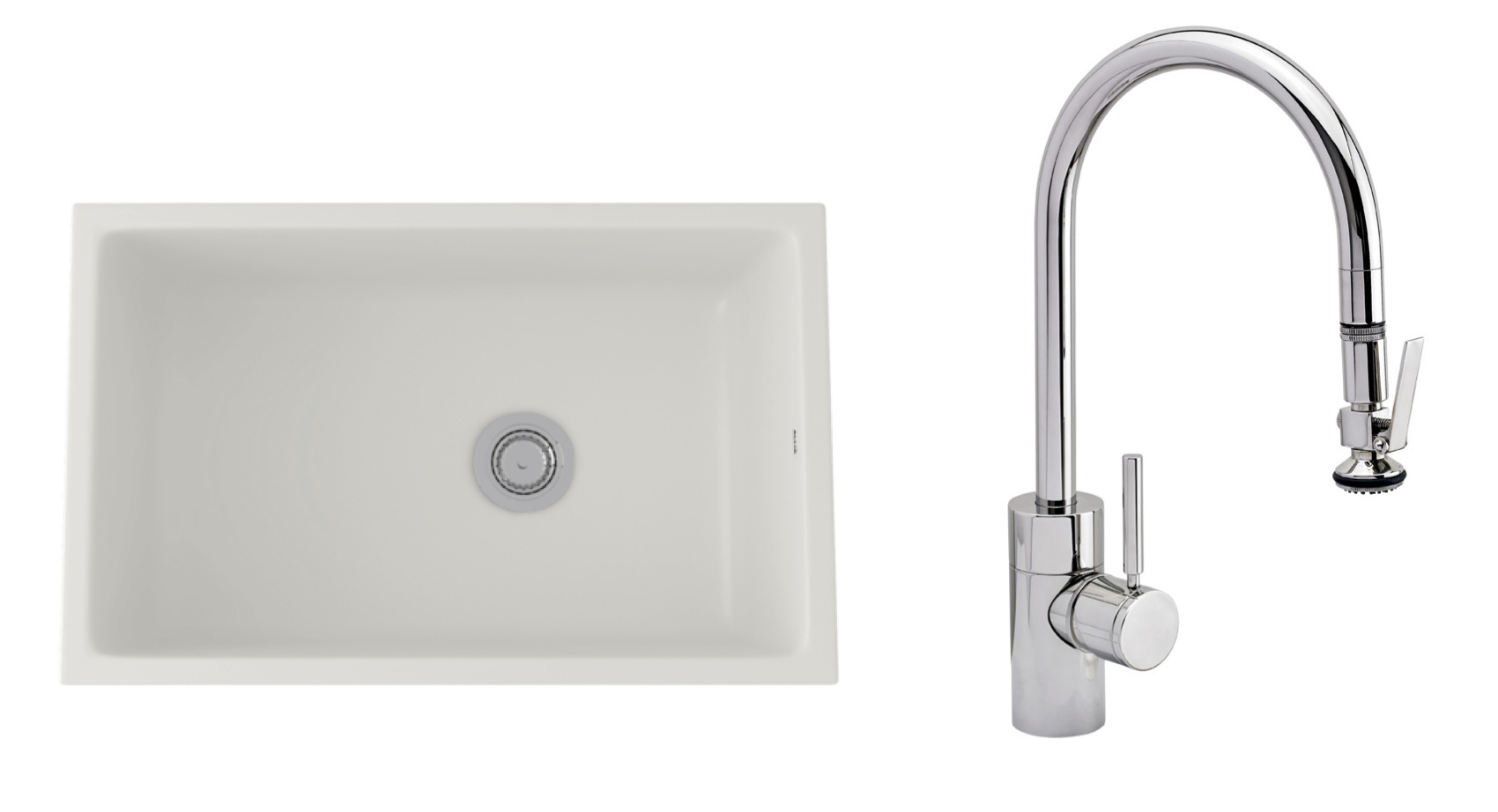 Sink by Rohl; faucet from Waterstone.