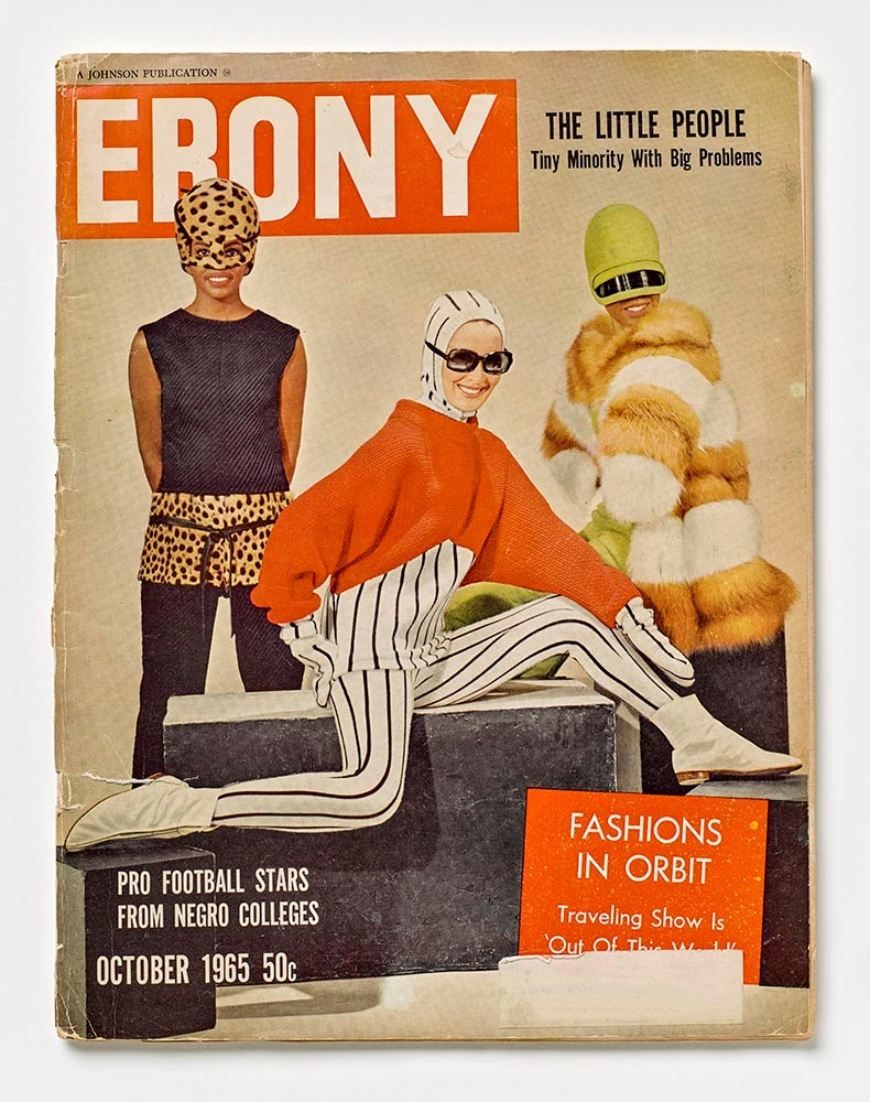 """Ebony"" Magazine Cover, ""Fashions in Orbit"",  October, 1965"
