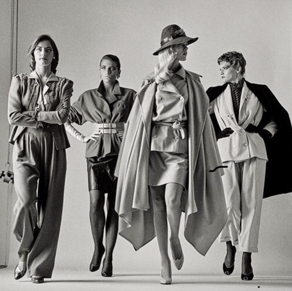 Helmut Newton, Sie Kommen–Dressed, 1981, gelatin silver print, the Museum of Fine Arts, Houston.