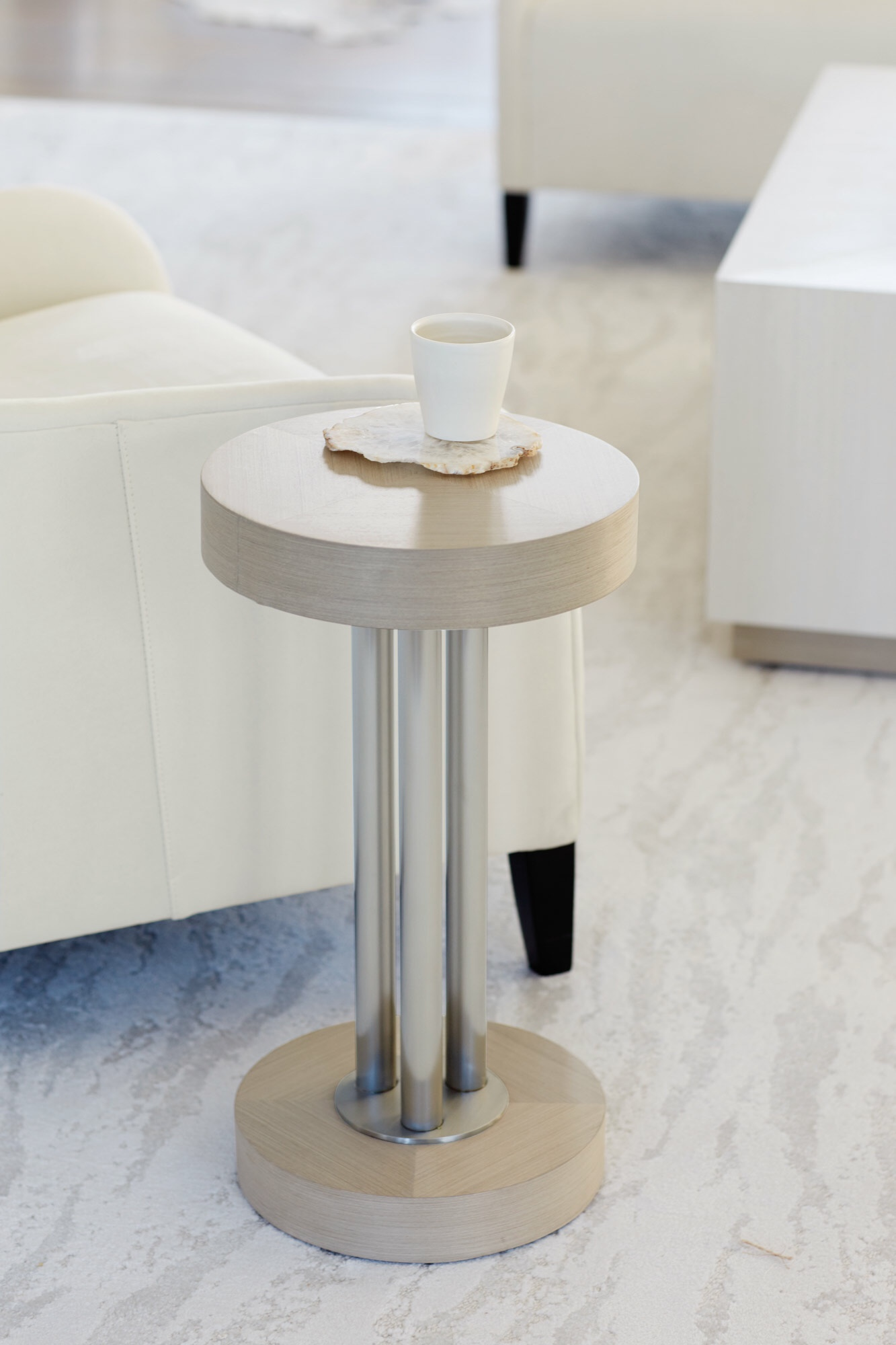 Bernhardt Furnture Axiom Round Chair Side Table