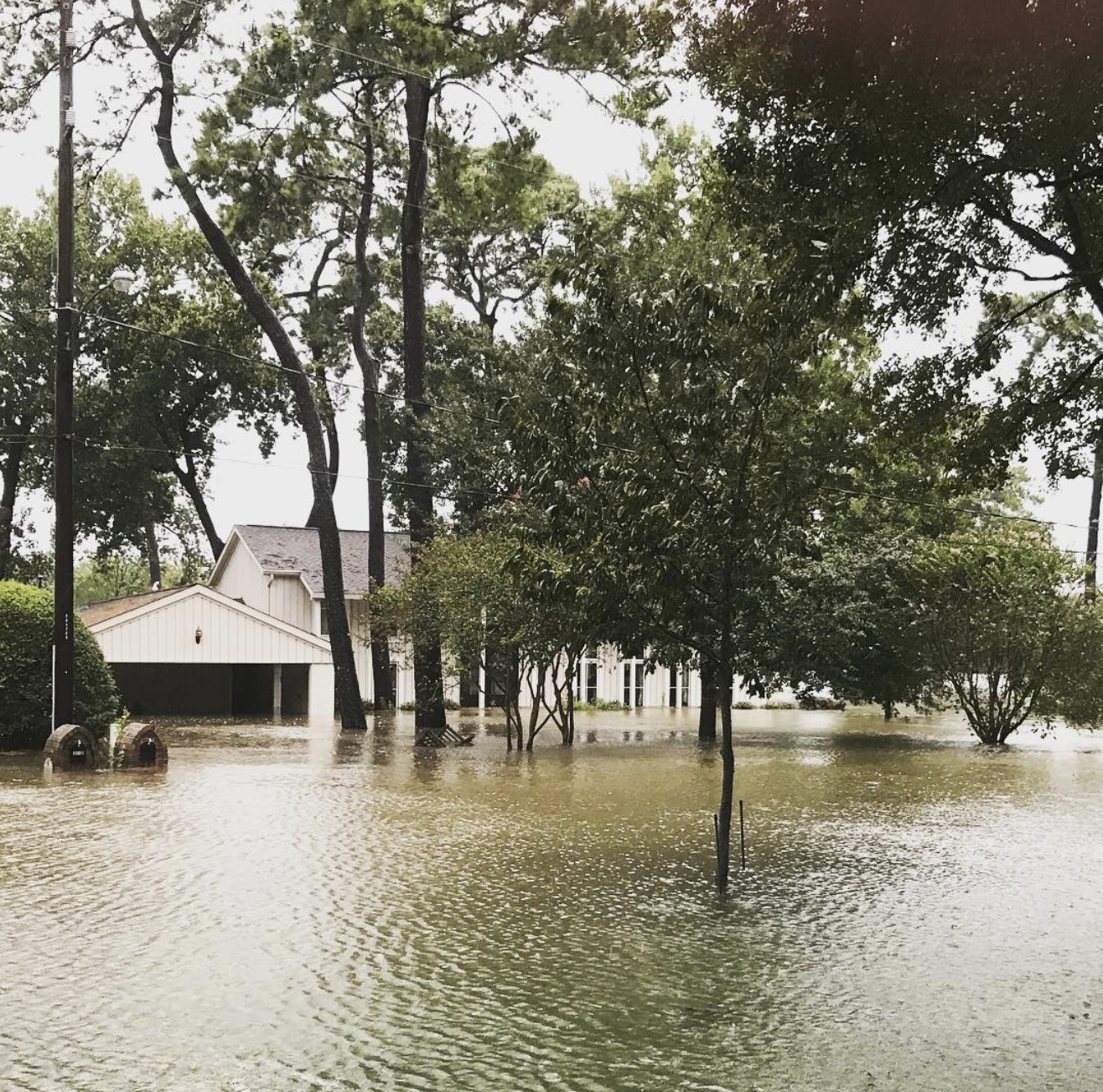 Our house after the flooding from Hurricane Harvey