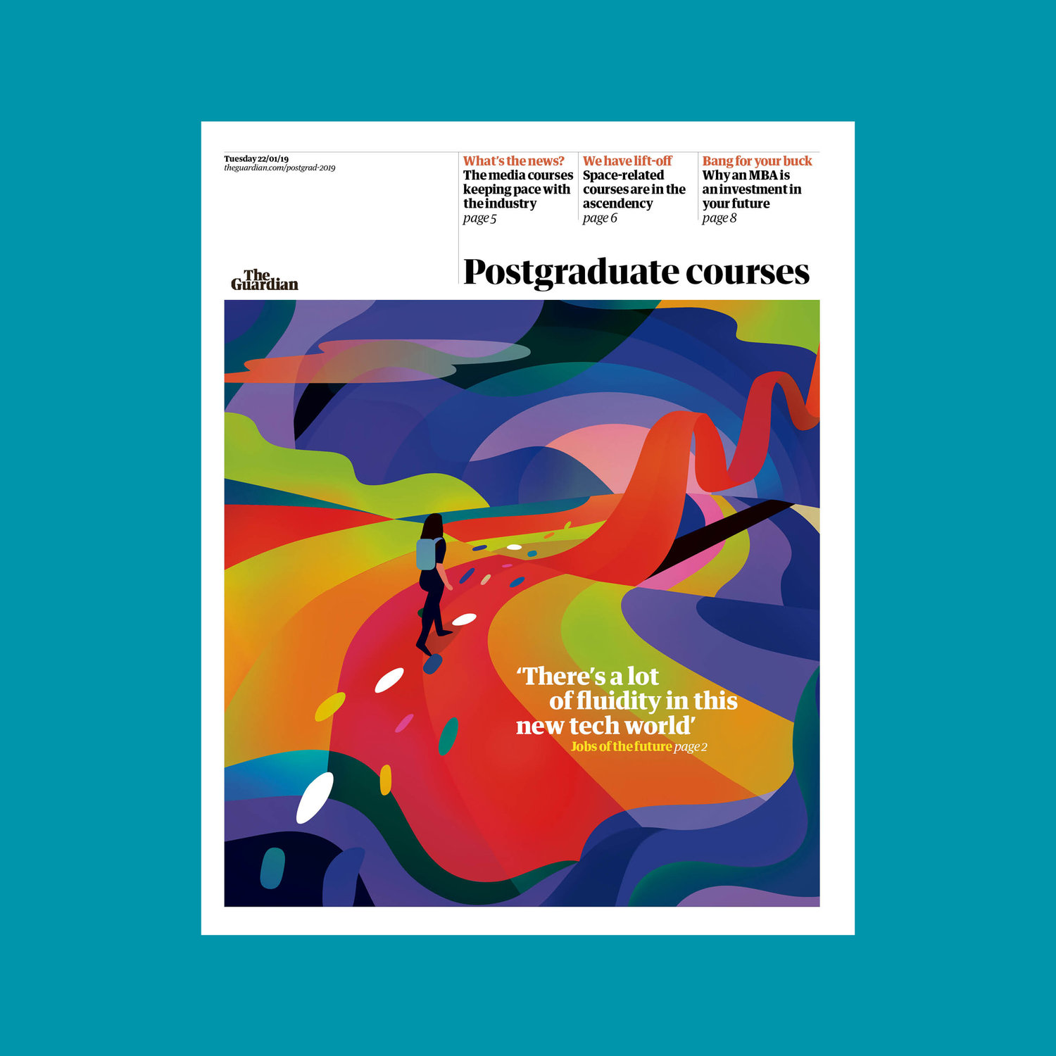 Cover Illustration for The Guardian Post Graduate section