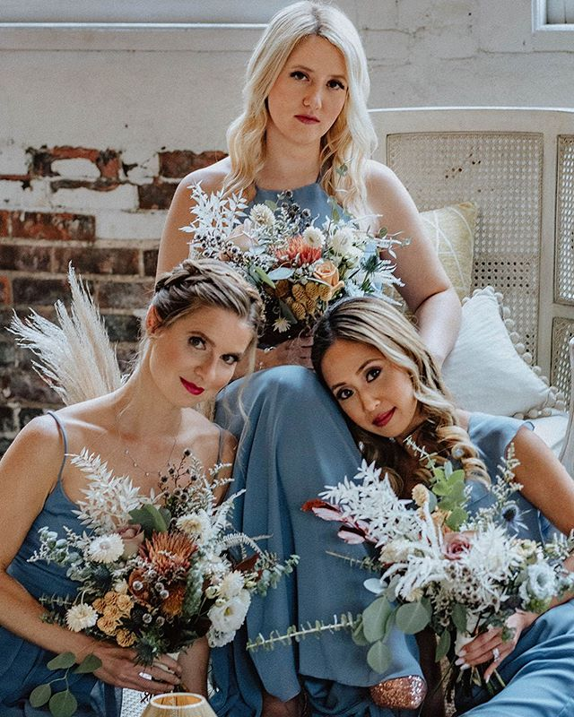 When bridesmaids belong in a magazine. ✨✨ What an amazing day this was with some of the most amazing vendors!! • • Planning+Design @brehant_creations Photography @jasmine.tianna.photos  Venue @the_lace_factory Rentals @ryandesignsri @theeventbird Florist @earthblossomsflowers Hair @sarajuliannabeauty Makeup @transcendentmakeup Stationery @wholeweddings Gowns @blissbridalct Cake @storeybookcakes Video @xluzive_weddings Jewelers @michaelsjewelers Live Painter @rachel_miller_art Strings @divinastrings Favors @noteworthychocolates Shoes @shop.kaileep Models @nivedith_official @kaylapriya @yentorres_ @lisa.olivia.p @staciemanna Runners @snassycrafter