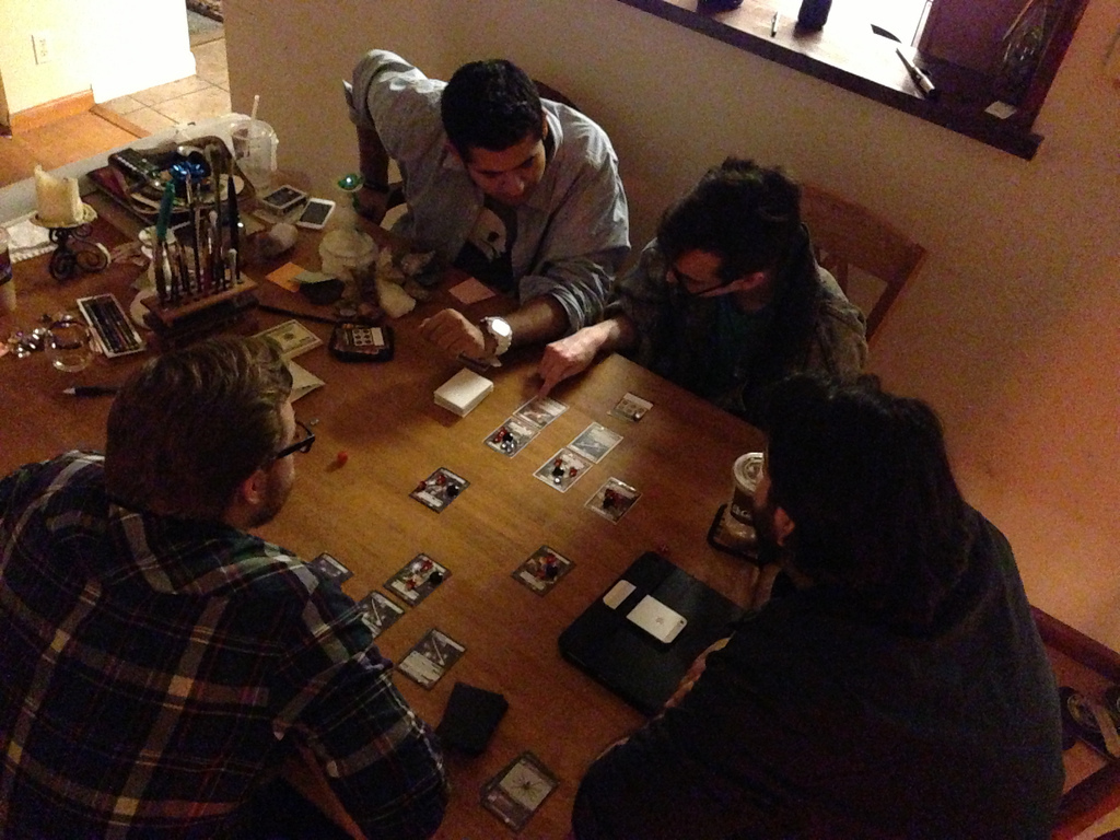 Testing without a playboard, making sure it wasn't needed for basic play.