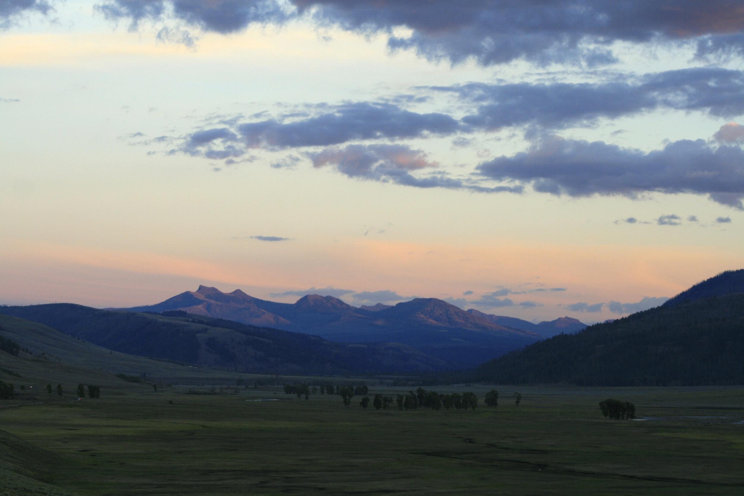 Lamar Valley at sunset