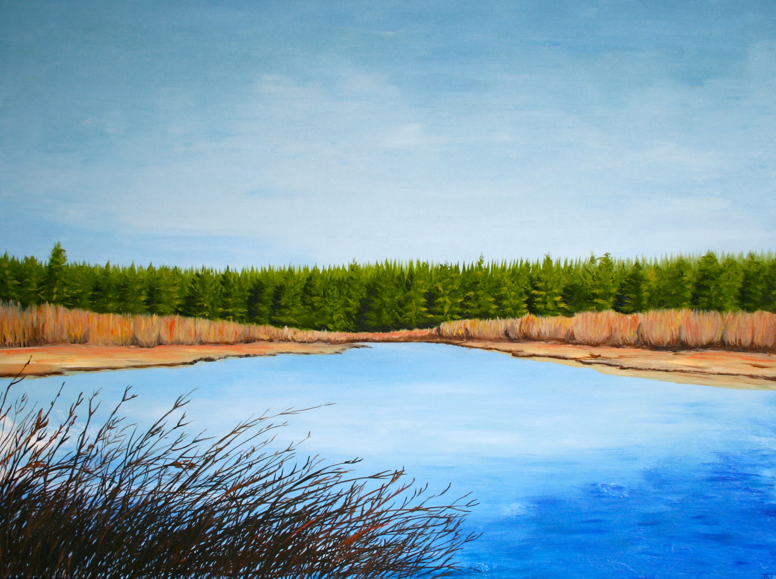 River Slows. Oil on canvas. 40 x 30. 2012.