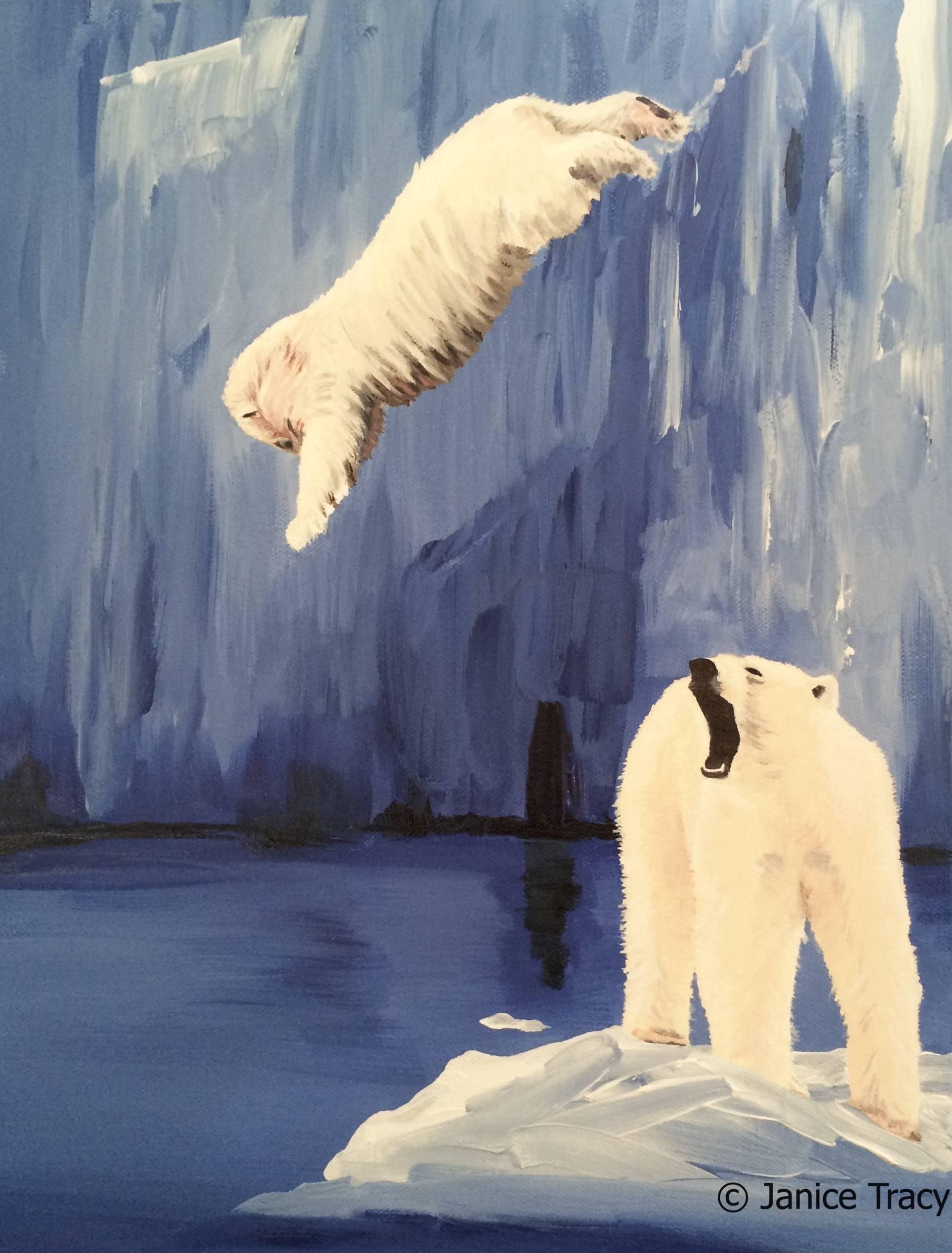 Here I am as a polar bear.