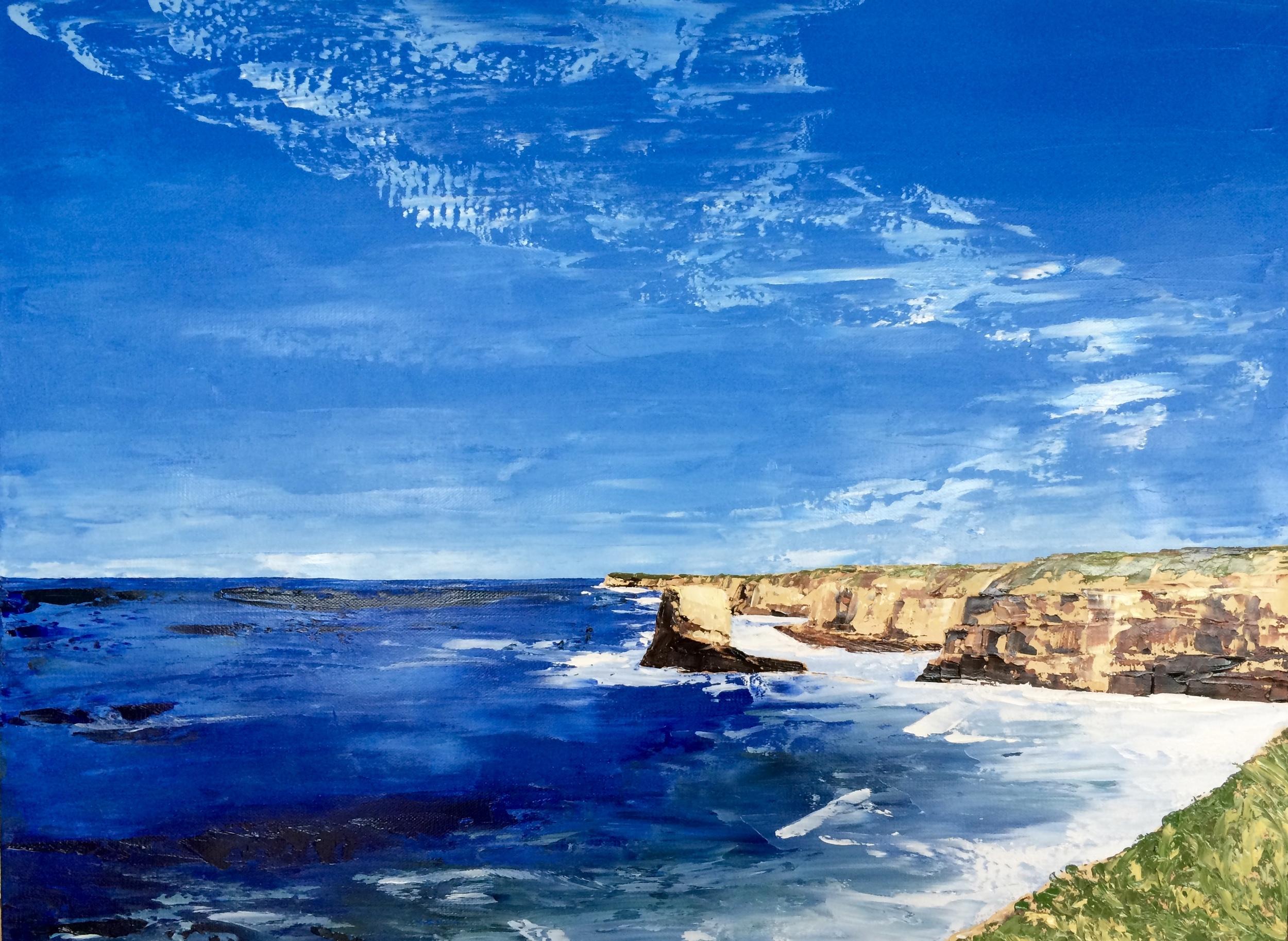 Wilder Ranch, 2016, oil on canvas (palette knife)