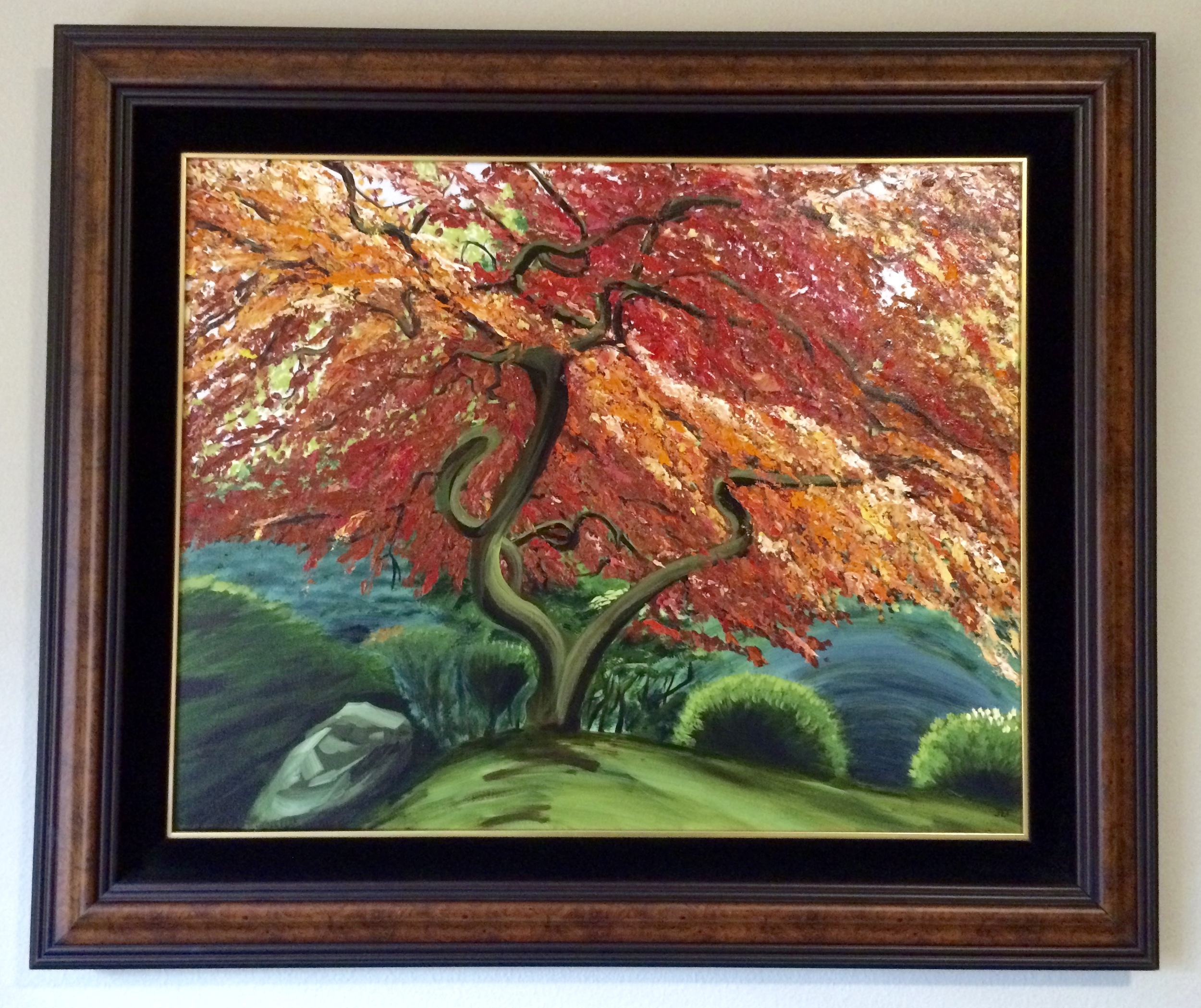 """Our Tree. Oil on canvas, 36"""" x 24"""""""
