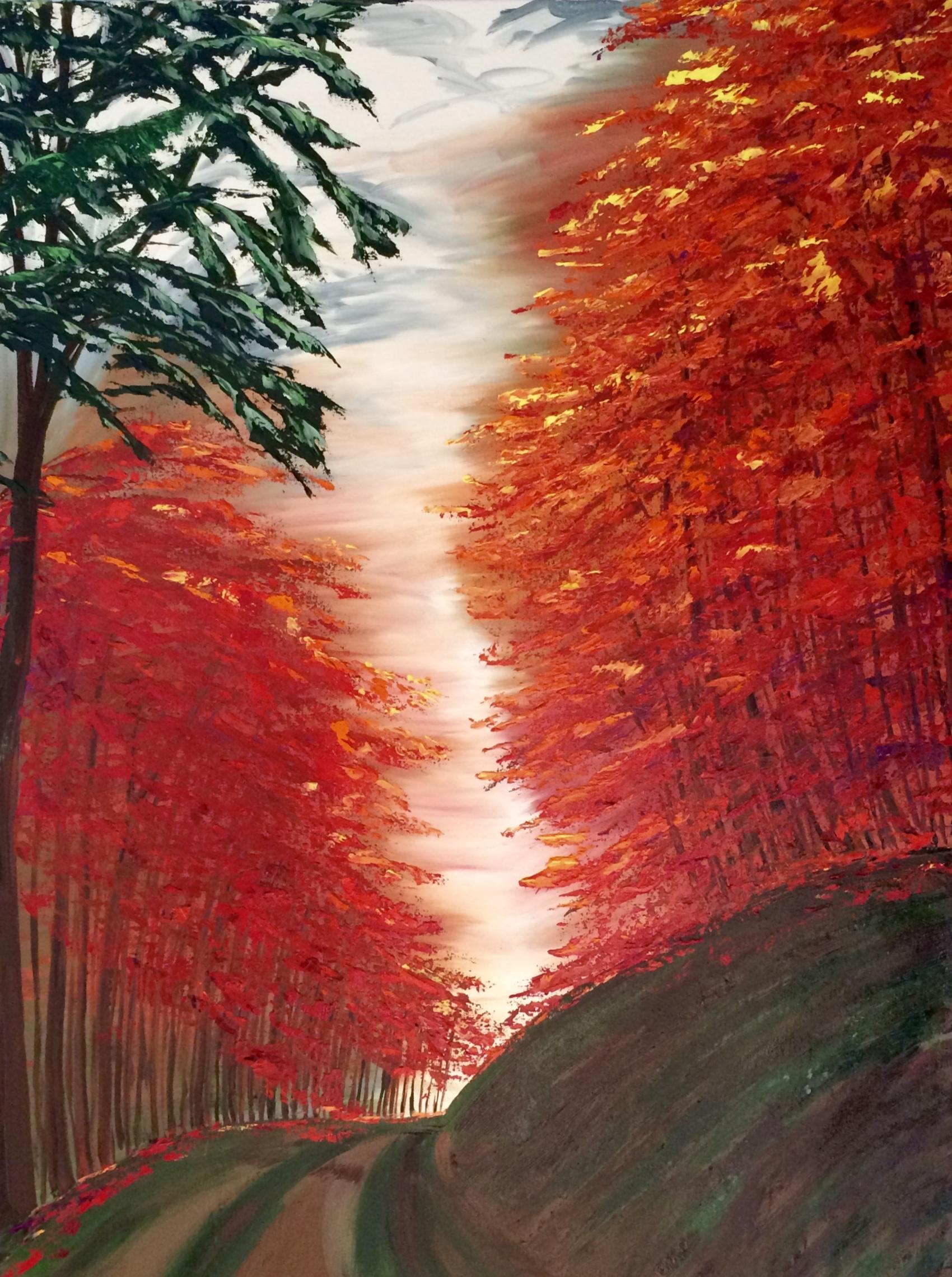 This painting has a secret past! A Sedona scene is hidden beneath!