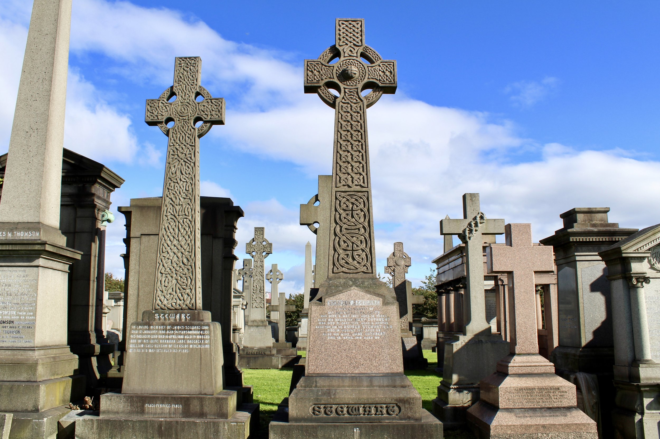 Glasgow has the BEST CEMETERY EVER, called The Necropolis, on top of a hill.