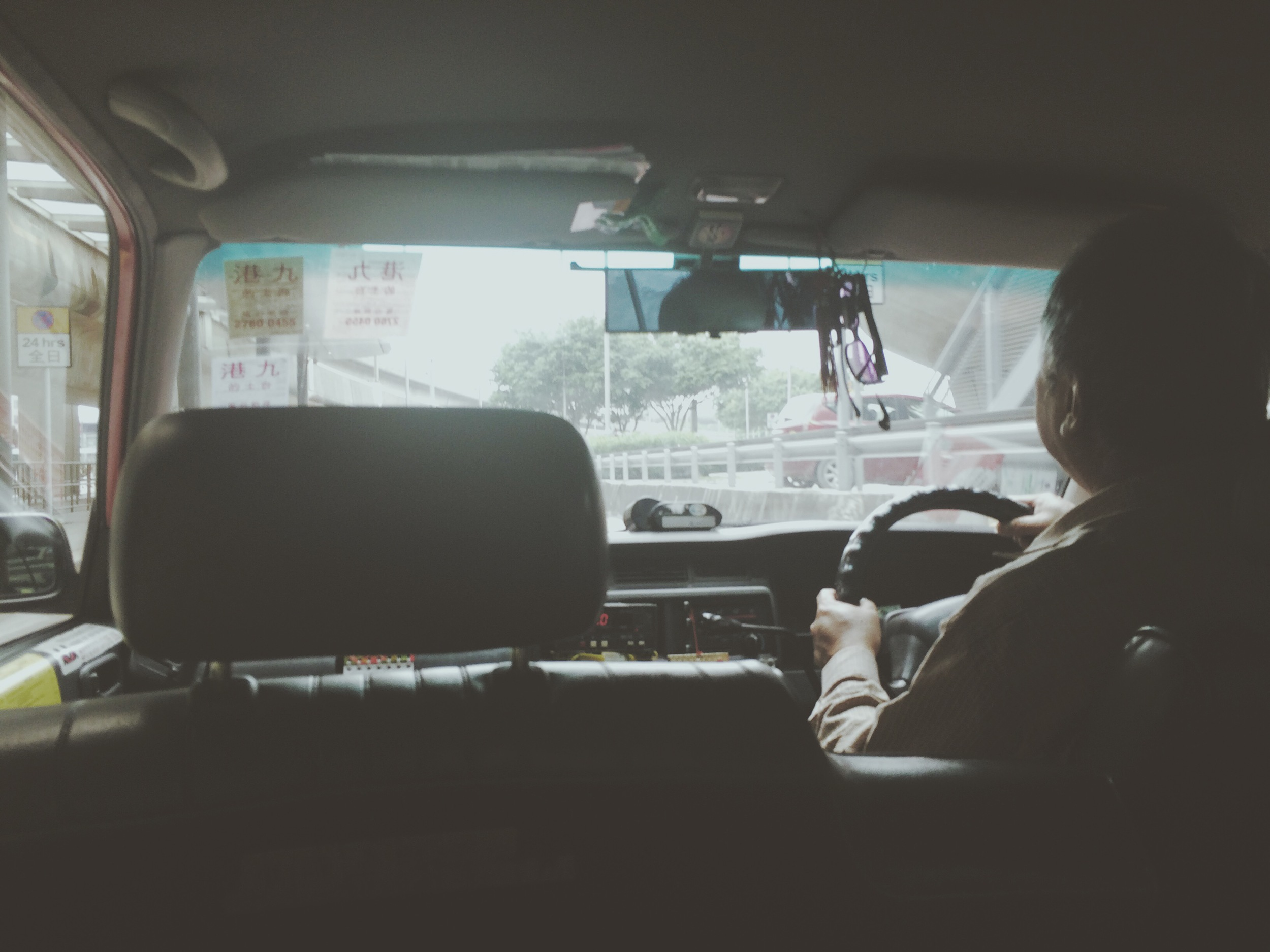 My cab ride into Hong Kong. © Ariel Davis