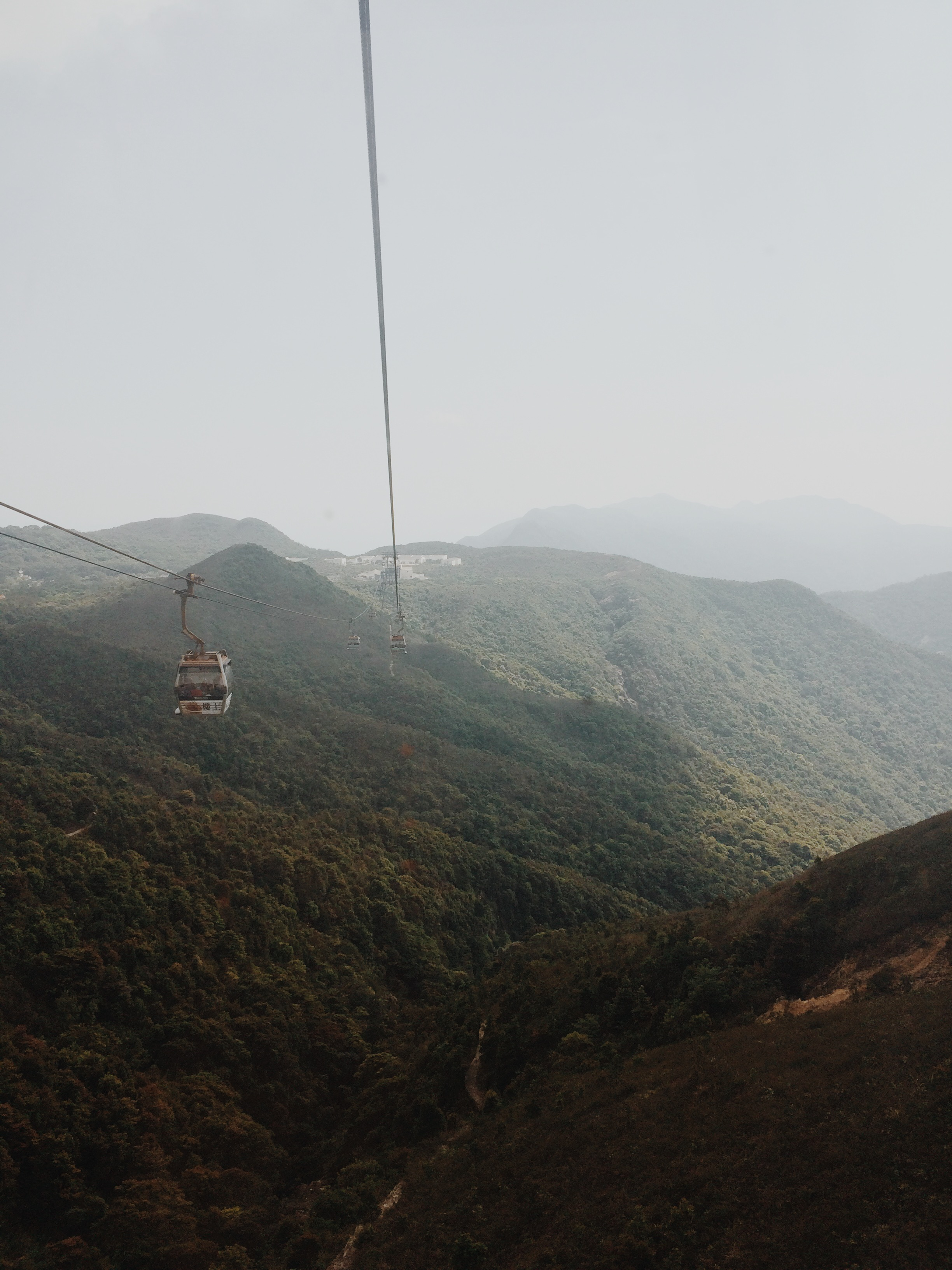 The cable car to the Tian Tan Buddha.   ©  Ariel Davis