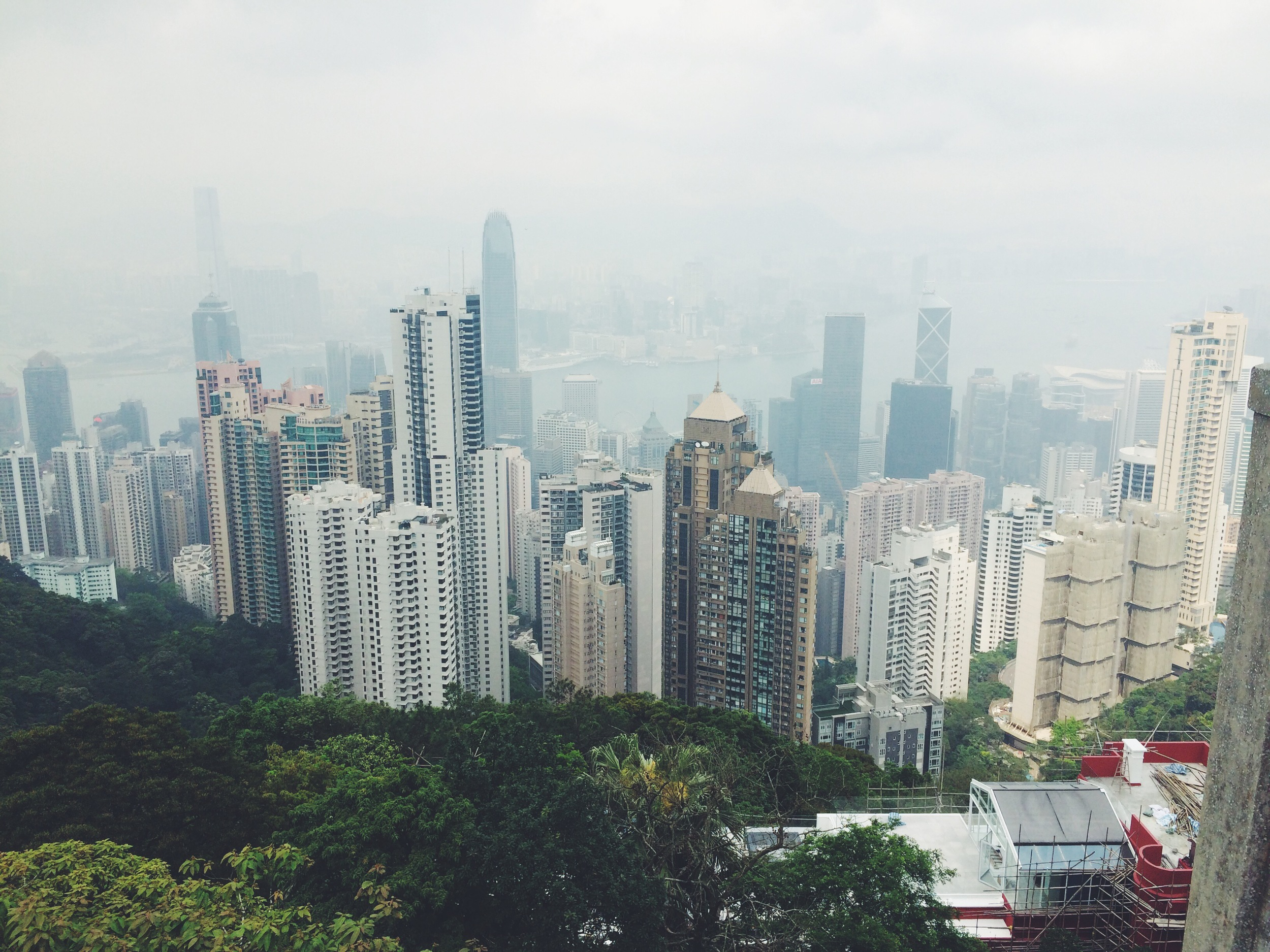 The view from The Peak.