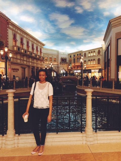 Faux Venetian canals.