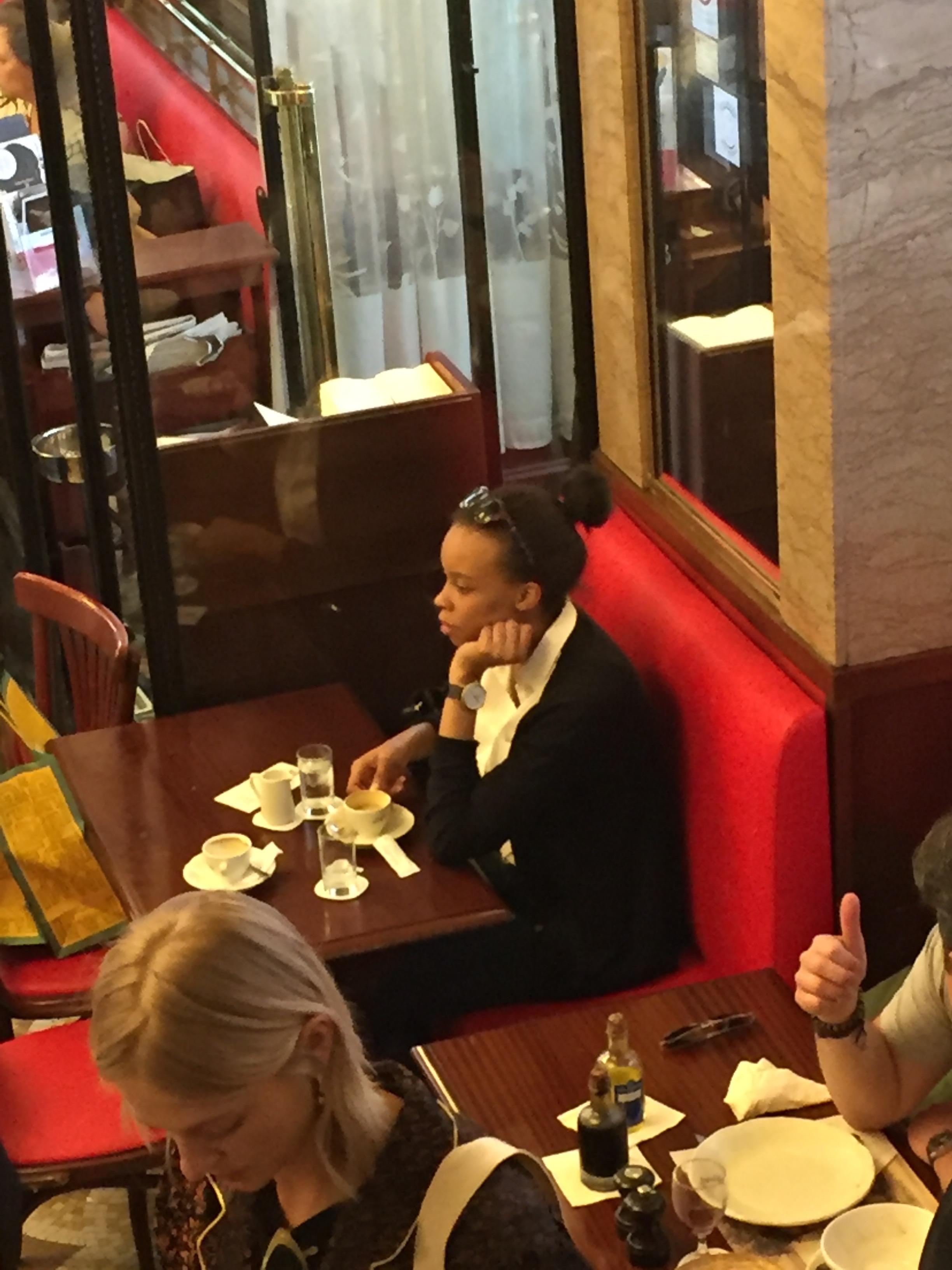 Yours truly at Café de Flore.